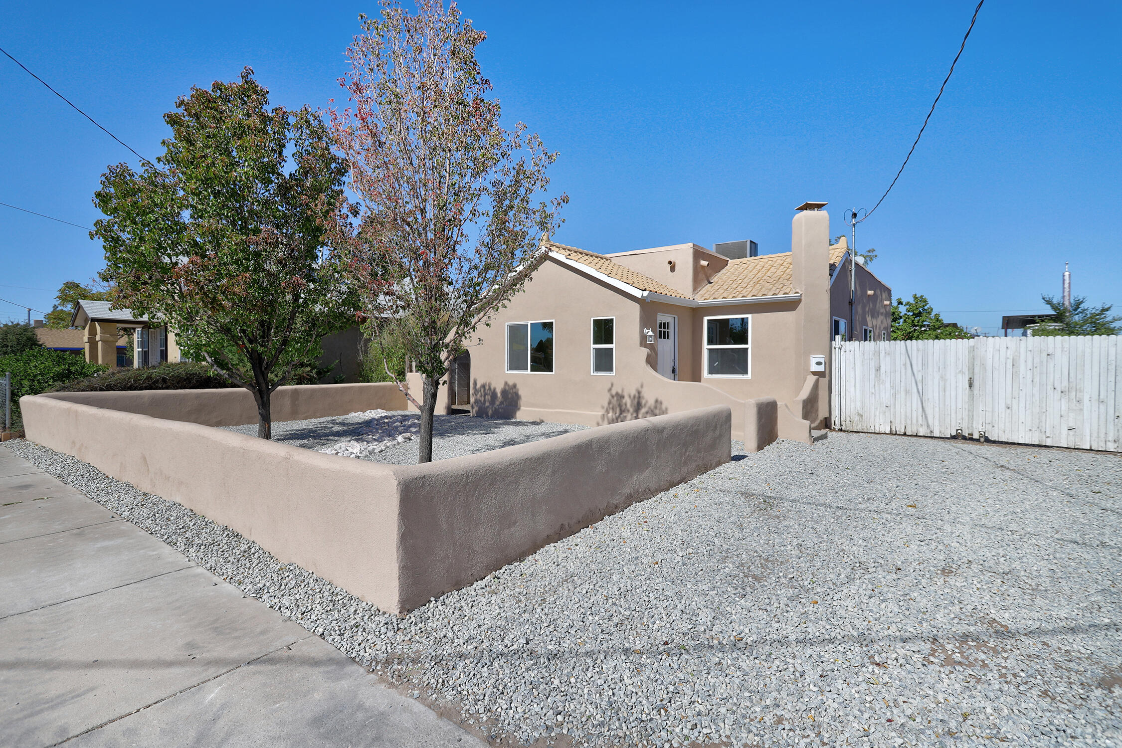 Nice Remodel. New Windows. New Refrigerated Air. New Carpet. New Tile. New Fixtures. New Stucco. Backyard Access. 1000 sq/ft oversized 2 car garage. Stainless steel appliances to be installed before closing.