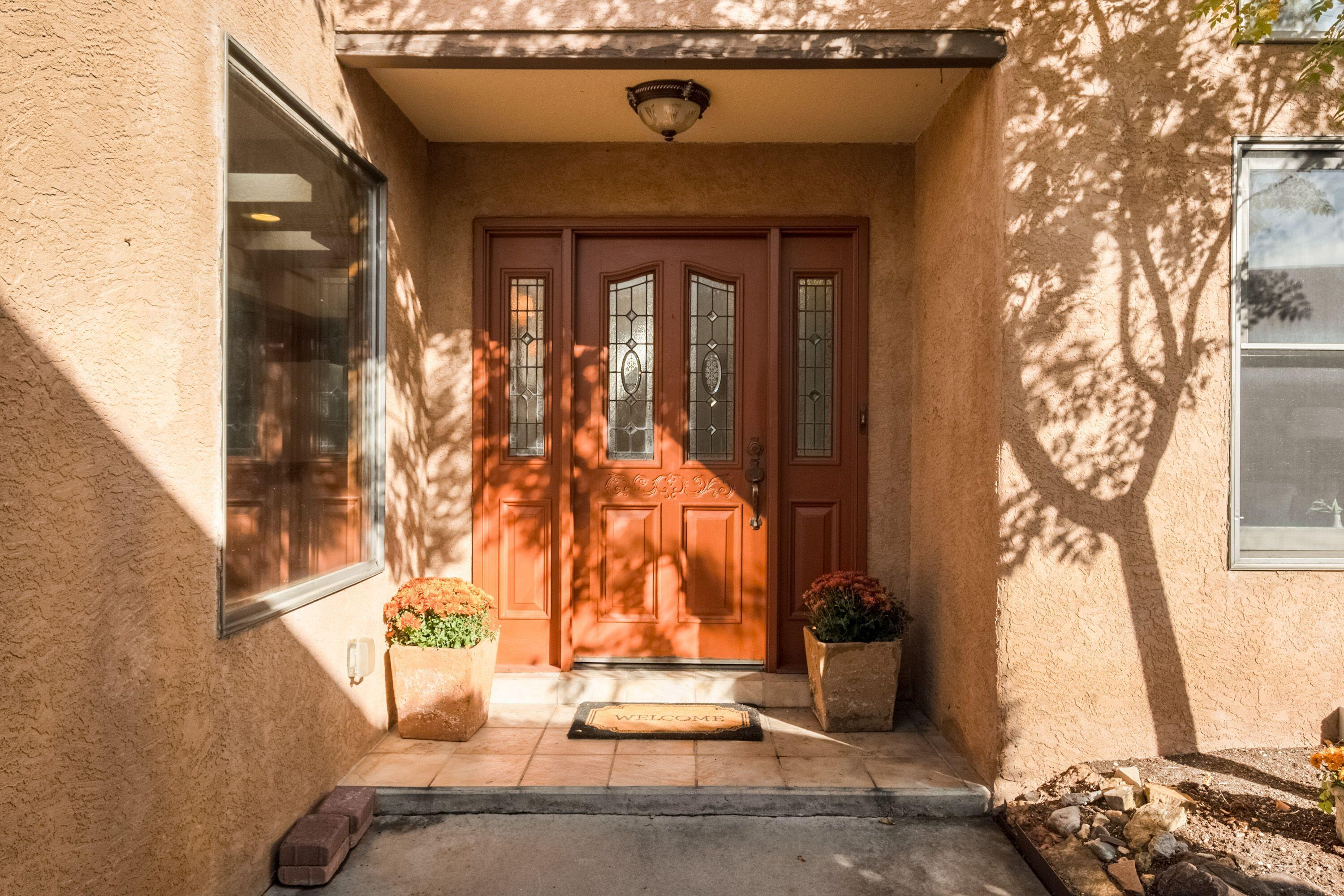 WELCOME HOME to this beautiful single story in desirable Tanoan. Lots of Natural light welcomes you inside through the well appointed windows and skylights.This well loved home is an Estate Sale. PROPERTY SOLD AS IS.