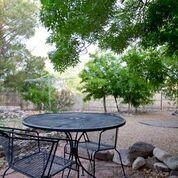 Within walking distance to NM Tech and in a lovely housing area of Socorro, is this sprawling 3/4 bedroom, 2 bath home with tons of room for storage, laminate floors, and a nicely appointed kitchen.  Off the kitchen is a large screened-in porch.  The huge shaded backyard is so ideal for gatherings, large or small...Lots and lots of privacy in the backyard, with plenty of trees and plenty of  room for kids to play.   This is a ''Must'' to include in your list of homes to view in Socorro.