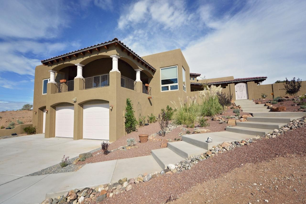 Stunning Views! This home will WOW your buyers! Wide open floor plan with 2 living areas, perfect for entertaining. Gorgeous wood beam accents, custom kiva fireplace & large picture windows with mountain and city views. Well appointed kitchen features granite counter tops, custom cabinets & SS appliances. Brilliant floor plan offers 2 master suites, 2 additional spacious bedrooms and 2 bonus rooms, plus a formal dining room overlooking the wrap around balcony. Master suite is a gem has a picturesque jetted tub, separate snail shower & large walk in closet. Enjoy the views from your covered patio & wrap around balcony year round! New Septic and Well in 2017 - All New Paint inside and out 2019! Hardwood floors refinished 2019! New Driveway! This home is sure to impress!