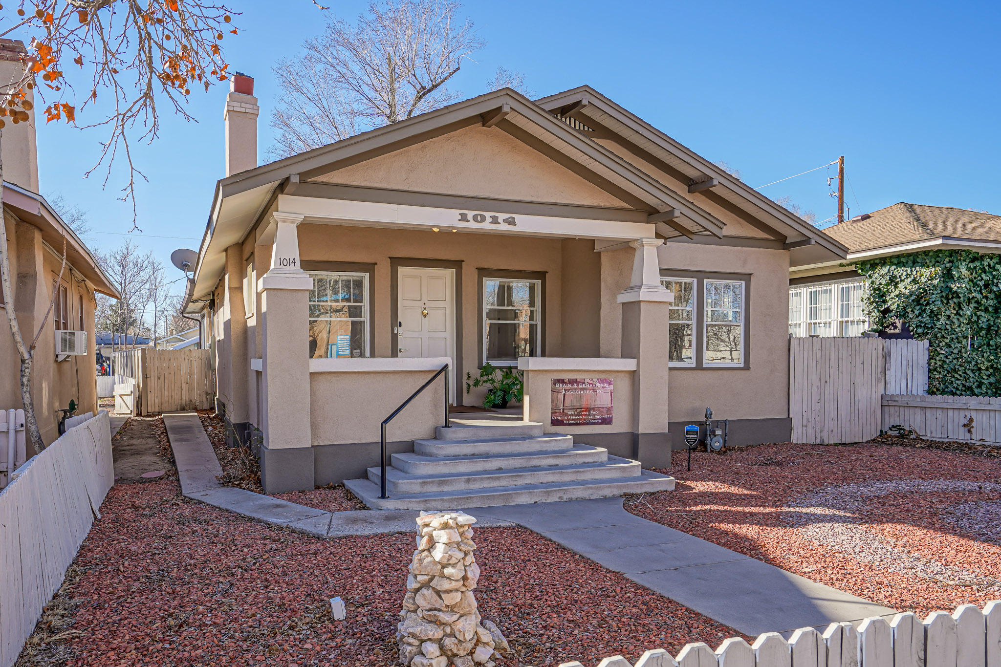 Own A Piece of Albuquerque with This 1911 Artistic Bungalow Style Home and Unique Office.  The Vibrant Creative Colors Keep A Positive and Calm Mood That Will Stimulate Your Creative and Inspiring Side.  The Rear Heated and Cooled Sun Room Is Surrounded with Jeld Wen Windows To Brighten Up Your Day.  The Area Is Perfect For Walking With Close Access To Albuquerque Best Coffee Shops, Breweries and Restaurants.  The Chefs Kitchen Has Been Tastefully Remodeled with Wood Block Island, Prep Area and Bosch Dishwasher and Stove.  The Floors Are A Very Attractive Refinished Hardwood Floors and Porcelain Tiles.  Be Sure To Keep In Mind This Home Also Has A Newer Roof. Newer Refrigerated Air and Has Been Extremely Well Maintained.  A Full Neighborhood and Property Brochure Is Available On Request!