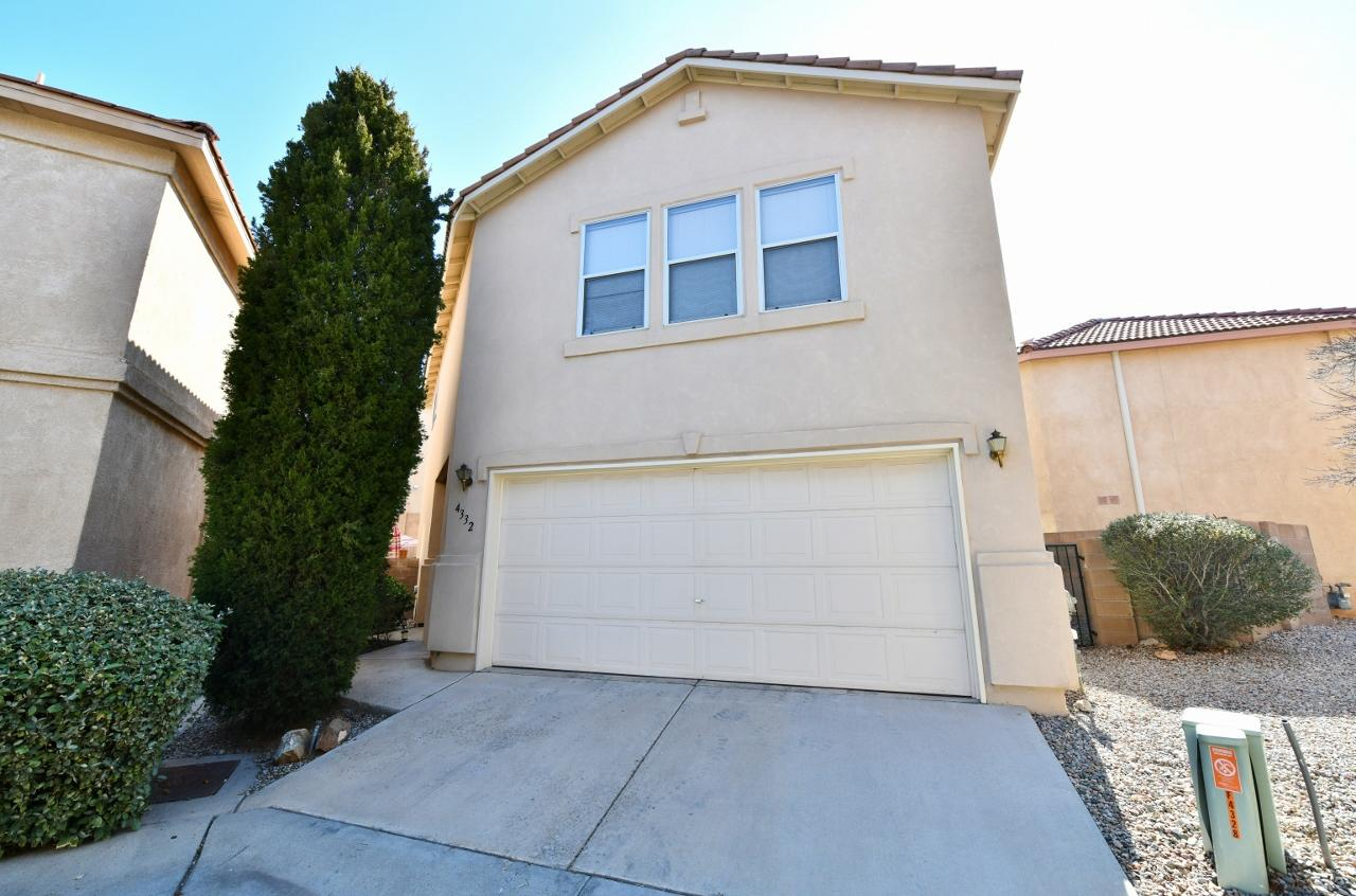Fantastic location in desirable gated community of Altura Village!  Conveniently located close to UNM, Nob Hill, UNM Hospital, Altura Park!  3BDR/2.5BATH plus Loft!   Light, bright & open with lots of living space in the great room.  Open kitchen with sunny breakfast nook, gas stove, built-microwave, refrigerator, washer & dryer stay!  3 large bedrooms upstairs!  Master bdr has a wall of windows, 2 walk-in closets, garden tub/shower, dual sink vanity and tile flooring in bath.   Private gated community minutes away from shopping malls, Uptown & restaurants! Doesn't back to Indian School Rd!!