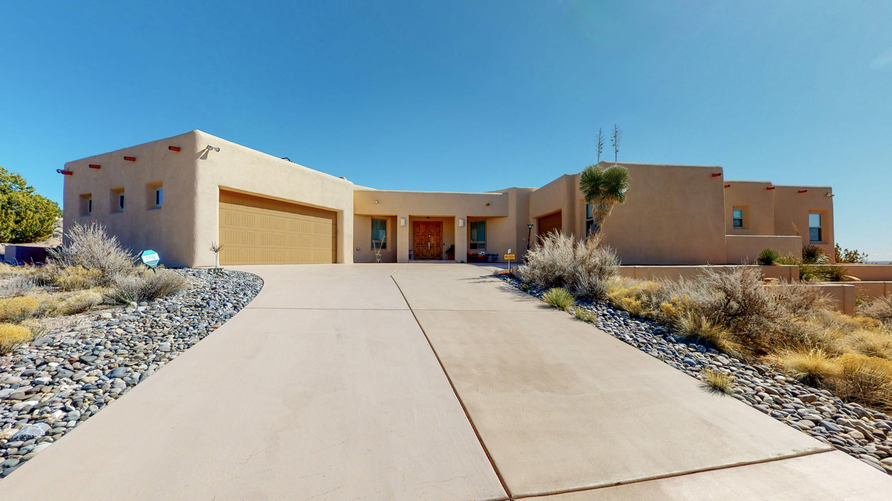 Beautiful custom home in Ridgeline Estates, Mariposa.  Endless amenities including radiant heat, 2 furnaces, Thermidor gas self cleaning double ovens, a steamer oven, 2 fridge drawers in the kitchen (separate from the full fridge/freezer in the pantry), 2 dishwasher drawers in the kitchen.    The master suite features 2 fireplaces, (one in the bedroom and another in the bathroom), soaking tub, shower, sauna (only 8 months old)  and two walk in closets.  The gorgeous backyard includes a kiva style fireplace and panoramic views. The  amenities in Mariposa include an indoor and outdoor pool, clubhouse and spa.  The solar panels are owned outright (not leased) and convey with the home.  This is a one of a kind dream home of exceptional quality and value.