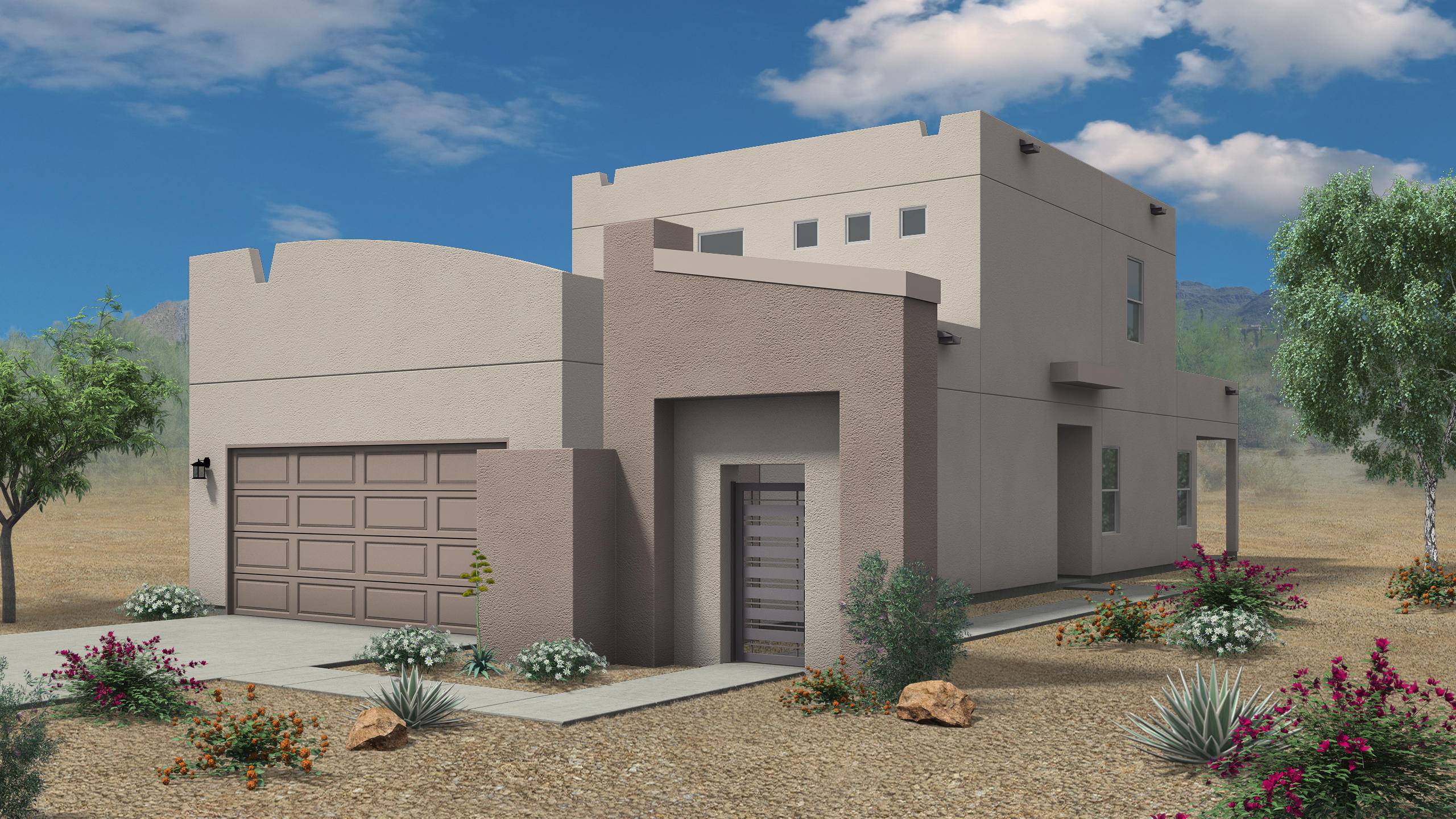 Brand new Sivage Home. New floorplan designs that are right sized. Secure Gatehouse Entry to Private Courtyard Living Space taking advantage of 10' side yard and 15' backyard to give a lot of usable  outdoor space. This lot is even bigger on the cul-de-sac and pie shaped.  Bright and airy contemporary floor plan includes Fireplace, Quartz countertops in kitchen and utility, Blanco crushed granite sink, custom cabinet options, stainless steel appliances and designer Luxury Vinyl Tile (LVT) Come see the next phase of FIesta a master plan community by Sivage Community Development, LLC. Enjoy parks, playgrounds, walking trails and close proximity to restaurants, shopping and easy freeway access. Home is under construction and scheduled to complete by mid-June.