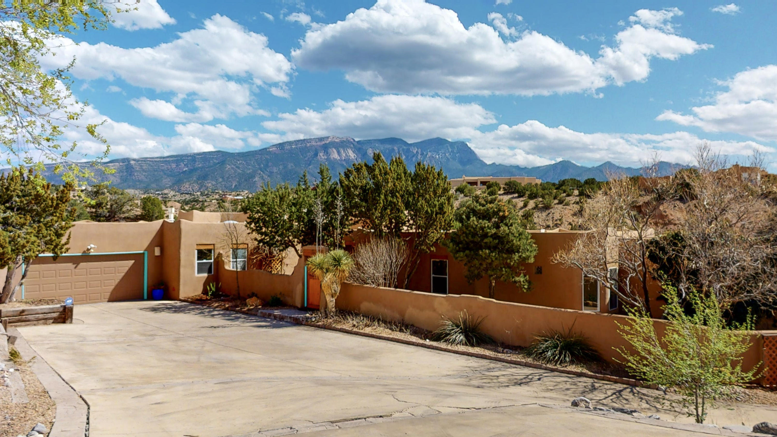 Check out this Placitas beauty with 4 bedrooms, 4 bathrooms and a swimming pool.  Lots of privacy in this home with 4.7 acres of land.  This home is perfect for multi-generational families.  There is a separate entrance to the north side of the home.  The unobstructed views of the Sandia Mountains is absolutely amazing. Southwest style home with 3 fire places needs a new owner.  You can have 4 horses on the property.  Check it out.  The home is occupied, it looks vacant in the pictures but it is occupied.