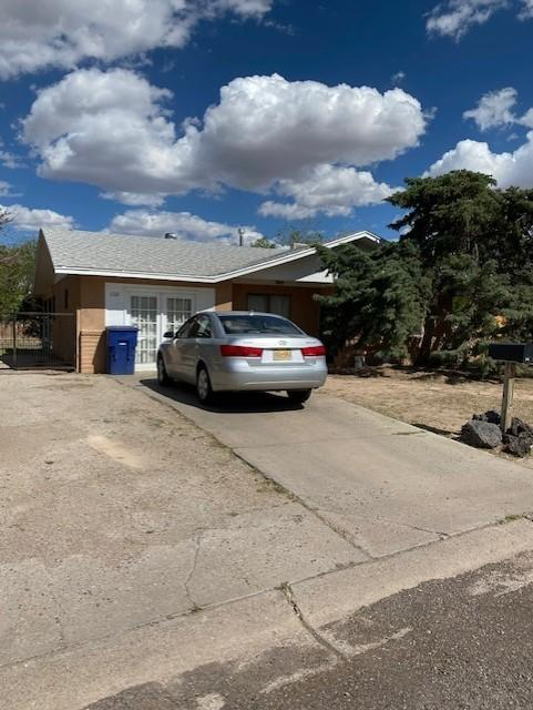 4 bedroom, 1.75 baths, fireplace in the living room,, laundry room, large fenced back yard with  a 10 x 24 storage shed., small covered patio in the back. This property is close to