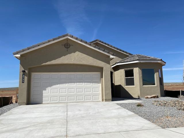 Great new community in convenient location. Tiled roof. Landscaped front. Interior tile in entry, living room, baths and kitchen. Granite countertops in Kitchen and baths, ceramic tile surrounds in baths. Samsung SS appliances include SxS refrig, dishwasher, range, micro, and washer and dryer (white). Maple cabinets.LED lighting, 10' ceilings, covered rear patio. 2-10 Ltd Home warranty + Exclusive 2-yr Builder Warranty. Tankless water heater, Energy efficient gas furnace and programmable thermostat.There are so many wonderful features in this beautiful home.
