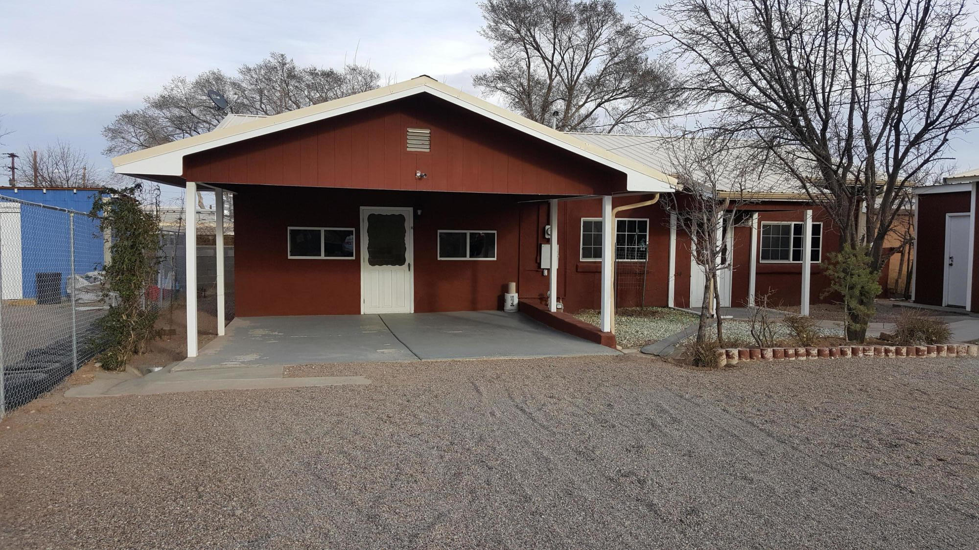 This well kept home is centrally located. Home has two bedrooms and one full bath.Large kitchen with new cabinets and counter-tops. A nice conveniently located carport outside the kitchen. Optional workshop or income producing studio. This yard is xeriscape and home is ready for immediate occupancy.