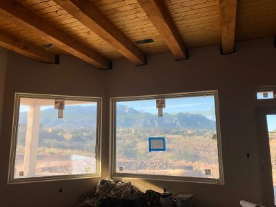 Custom built beauty in Plactias! All the views, Sandia Mt's, colorful Mesa's and twinkle light nights. Very energy efficient insulated panel construction, keeping those utility bills low! Wood ceilings on the porches and great room. Very traditional Santa Fe style! Custom hand built shapely kiva fireplace. Accented with nichos. Upgraded appliance package, kitchen cabinetry with coffee glaze over cream, contrasting, complimentary warm wood island. 40 inch uppers with 3 inch crown molding. Bar top feature shapely furniture style post. Walk in Pantry. *** Seller is Owner/Broker.