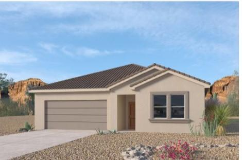 A beautiful NEW home in the VOLTERRA IV Community, this community has so much to offer in SE ABQ! This NEVER LIVED in home is CURRENTLY BEING BUILT...our newly designed ''LOGAN'' incredible 1-story with an open bright kitchen/dining room area, along with GRANITE counter tops (Standard). This 4 bedroom has the split design has the master bedroom separate from the secondary bedrooms. The fourth bedroom is also separate, for the perfect office, nursery or game room. You'll love the kitchen island, with plenty of space.