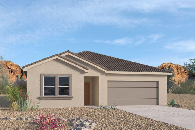 A beautiful NEW home in the VOLTERRA IV Community, this community has so much to offer in SE ABQ! This NEVER LIVED in home is our newly designed 'LOGAN.' An incredible 1-story with an open bright kitchen/dining room area, along with GRANITE counter tops (Standard). This 4 bedroom, plus study/den 3 full baths is to die for!! Gas appliances, great master quarters. Close to LABS, Kirkland, & I-40