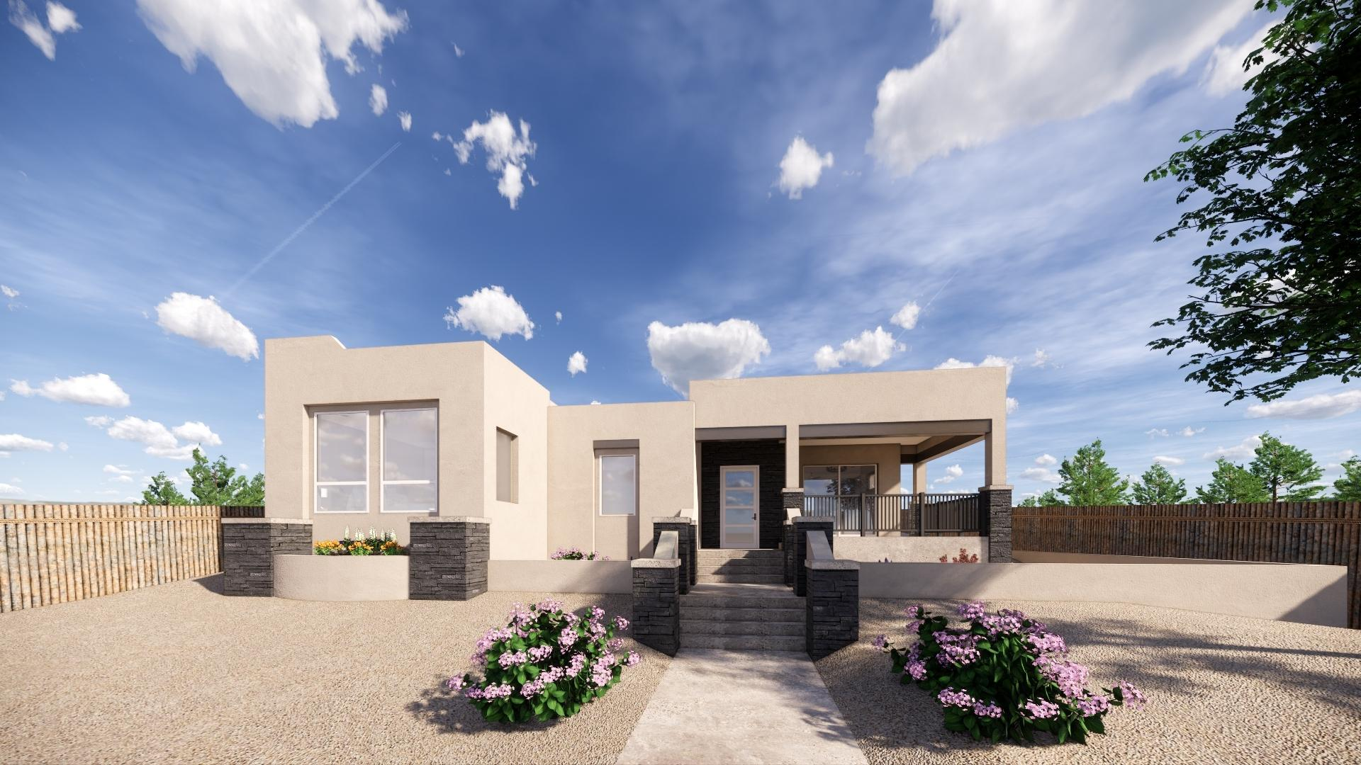 Take a Virtual Tour of this gorgeous home that is under construction. Set to be completed Sept/Oct 2020 . With easy access to I-25 and the Santa Fe community College, the location alone will have you wanting to make this yours. The open floorplan will welcome you and guests into a natural light filled room that has beautiful tile floors and modern touches that make you feel at home! When you entering this home you are greeted by an office space with french doors that open up to look onto front patio! Shoot, this flex space could be for you to do business right from your home! The master is separate from the rest of the bedrooms making it your favorite oasis to unwind and relax. The kitchen boasts Bosch appliances and the island will be the perfect place to enjoy meals and make memories.