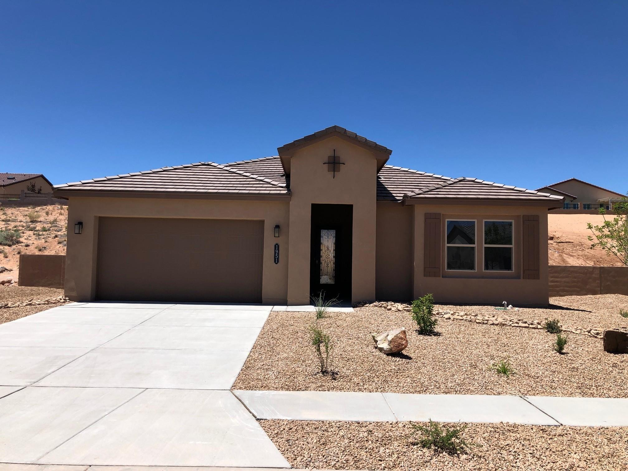 This beautiful 1746 floorplan sits on an over-sized, 85 foot lot at The Peaks in fabulous Mariposa. The open living area has lots of natural light, and is an entertainers delight. Kitchen has granite counters and island. Whirlpool stainless appliances include: 5-burner cooktop, vent, dishwasher and built-in oven and microwave. New Mexico Green Built And a SMART HOME. Enjoy the lifestyle of a Private Community Center that offers indoor and outdoor pools, parks, fitness center, full time activity director, and miles of hiking/biking trails. It's all about Lifestyle at beautiful Mariposa.