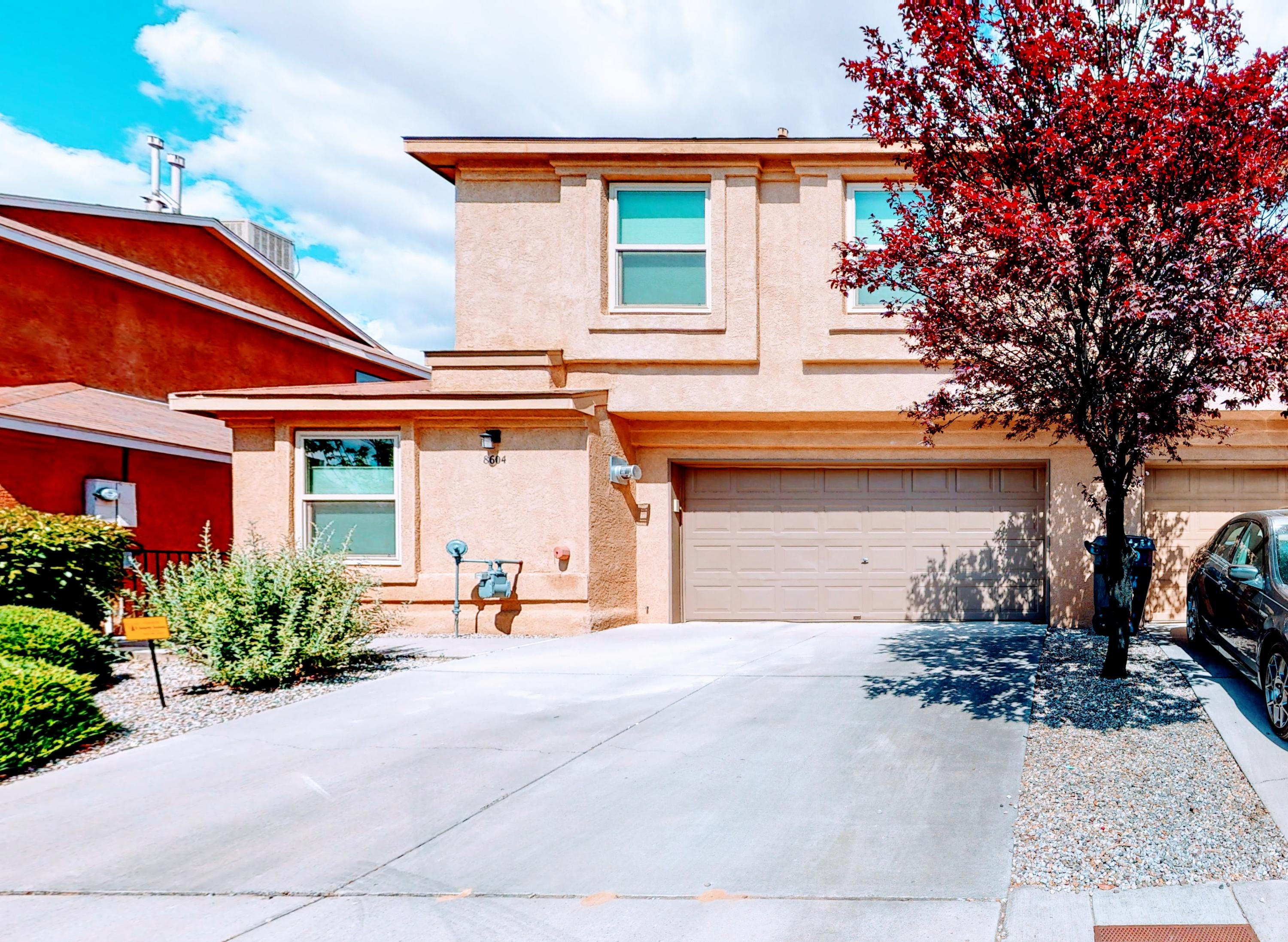 Beautiful Well Designed And Built Townhome. Amenities Are Plentiful- An Open Floorplan with Spacious Cabinetry, including Updated Refrigerated Air; Updated French Doors that open to patio xeriscaped backyard.Cozy Gas Log Fireplace.Nice sized rooms Nice size master with 2 closets one is a walk in.This  Townhome Located In The Very Desirable La Cueva High School District in immaculate condition.