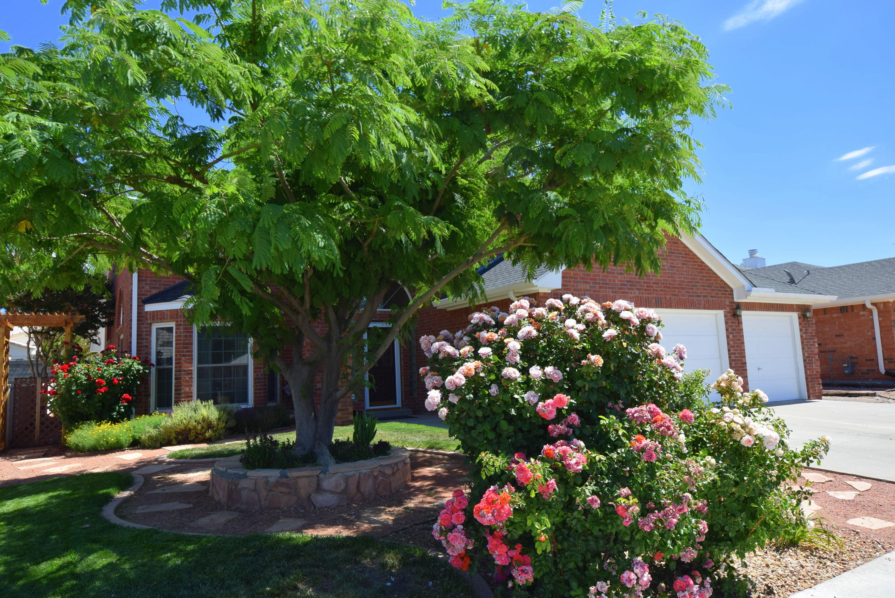 Beautiful Opal Jenkins in unique Willow Wood. This 2 story home has hardwood floors with stone  & tile accents.  The master bedroom with fully renovated bathroom is on the main floor.  2 bedrooms are upstairs with a possible 4th bedroom that could be a yoga studio, office, or family room.  This is a energy efficient home with low E windows, pellet stove and solar panels.  The kitchen has been fully renovated with granite and stone.  The outside has been fully landscaped (front & back) with 6 zone sprinkler/bubblier system; water feature, raised garden beds,  and a covered patio with built-n BBQ grill.  Ask me about the Endless Wave exercise pool in the heated sun room.
