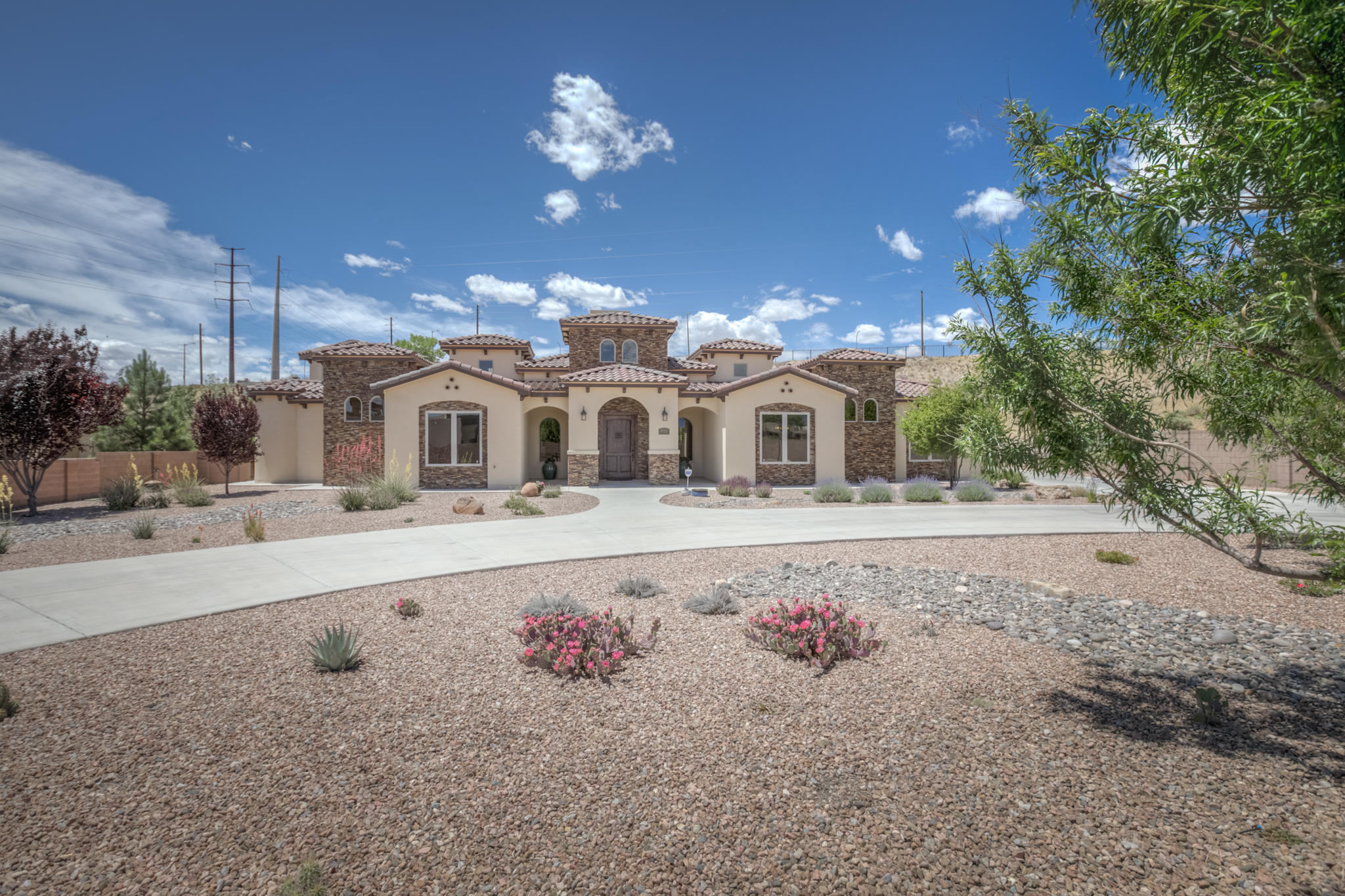 Lovely single story Tuscan beauty located in the luxurious Black Farm Estates.Situated on 1.14 acres on a fully landscaped lot w/custom fencing. One of a kind details greet you when you arrive w/ a hand carved door,stone entry,foyer w/ tower,chandelier & fireplace. Grand open living space is perfect for entertaining.It offers picture windows, wood flooring,T&G and beamed ceiling & stone accents.The luxurious oversized master suite offers a private retreat tucked away from the mini master & two additional bedrooms. Pamper yourself in the oversized master suite which includes a spa like bathroom that has a tower and elegant chandelier.Relax in the soak tub & enjoy the fireplace, luxurious snail shower, two dressing areas & two closets. The residence also has a Study/Media Room. Family room