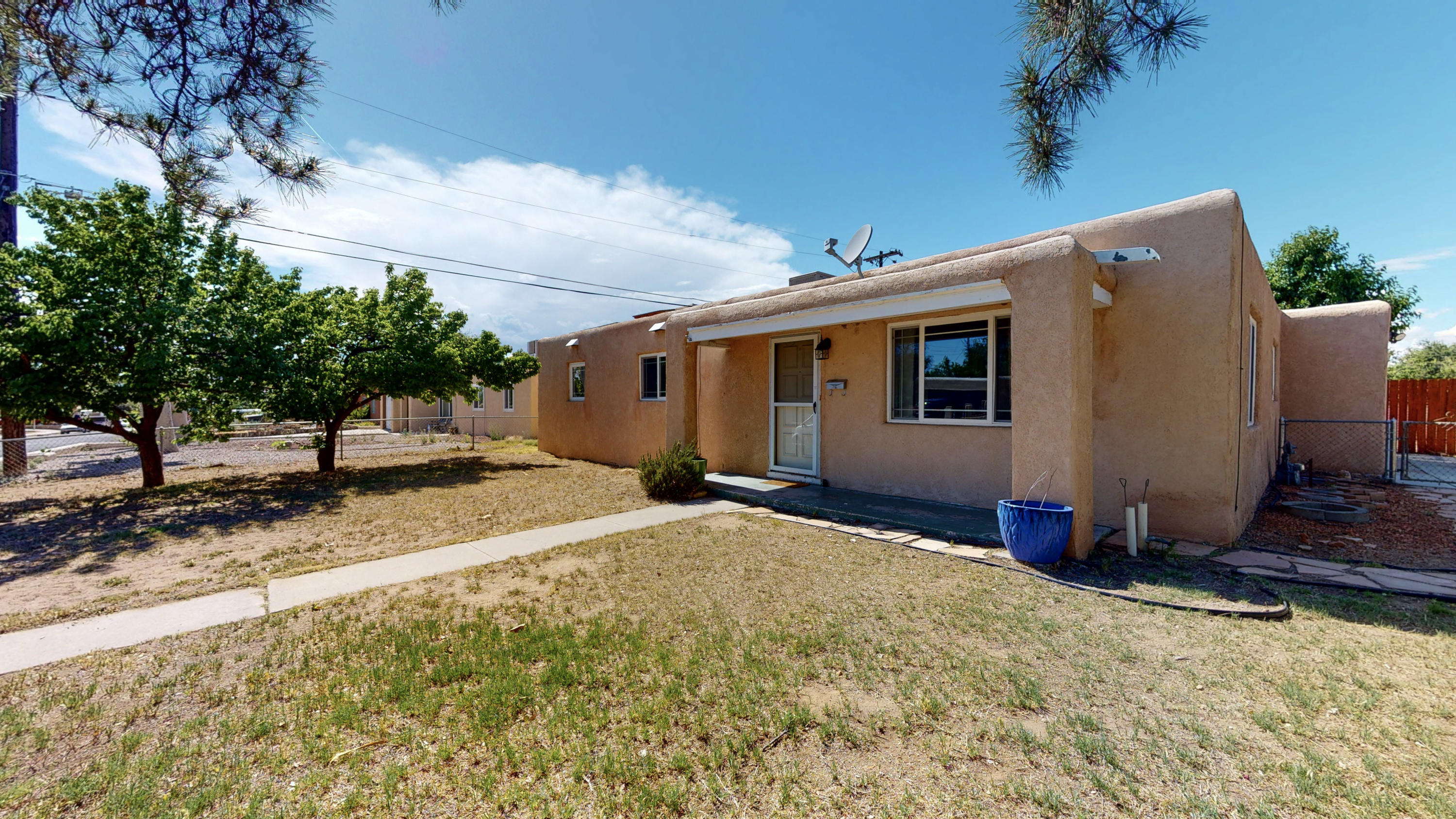 Beautiful three bedroom two bath home located in a very desirable North East Heights Location.  This clean and bright home has updated appliances and kitchen cabinets, newer windows and updated bathrooms.  The large private back yard is great for entertaining and cook outs.  This fabulous home is located close to schools, parks, shopping and just minutes to easy freeway access.  This comfy home is ready for it's new owners.  Come see it today.