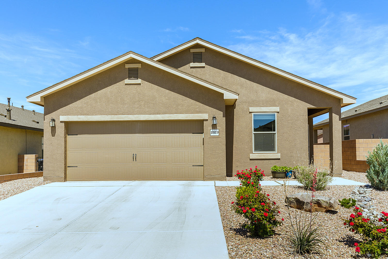 Welcome to a young home! Why Rent when you can own? 3 nice sized bedrooms! 2 full baths! Owners Suite has walk-in closet.  Open Living, Kitchen and Dining area. Granite counters, Refrigerator, Gas Range, Dishwasher and Microwave are included.  This home was complete in November of 2017 so the roof is young, the heating and cooling are young and the water heater is young. Samsung washer and dryer are included! The back yard is ready for your imagination. 2 car garage with quiet opener! Located in an upscale neighborhood. You better move fast, cause this one won't last.