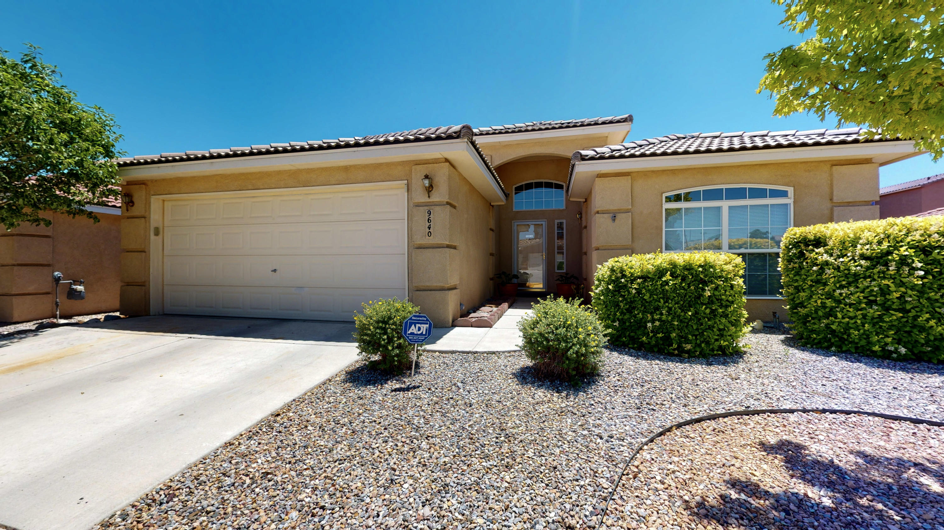 Immaculate move-in ready home!  Cozy up to the two-way gas fireplace while entertaining guests with the open floor plan. Your new home features cathedral ceilings throughout and Clerestory windows in the Living room, allowing lots of Natural Light. The private master suite is separate from all the other rooms. The master suite features a large walk-in closet and large garden tub for soaking after a long day. There is also a study that can easily be a 4th bedroom.  The backyard is low maintenance and ready for you to move in!  Close to Freeway access! Schedule a private showing or take a virtual walkthrough tour today!