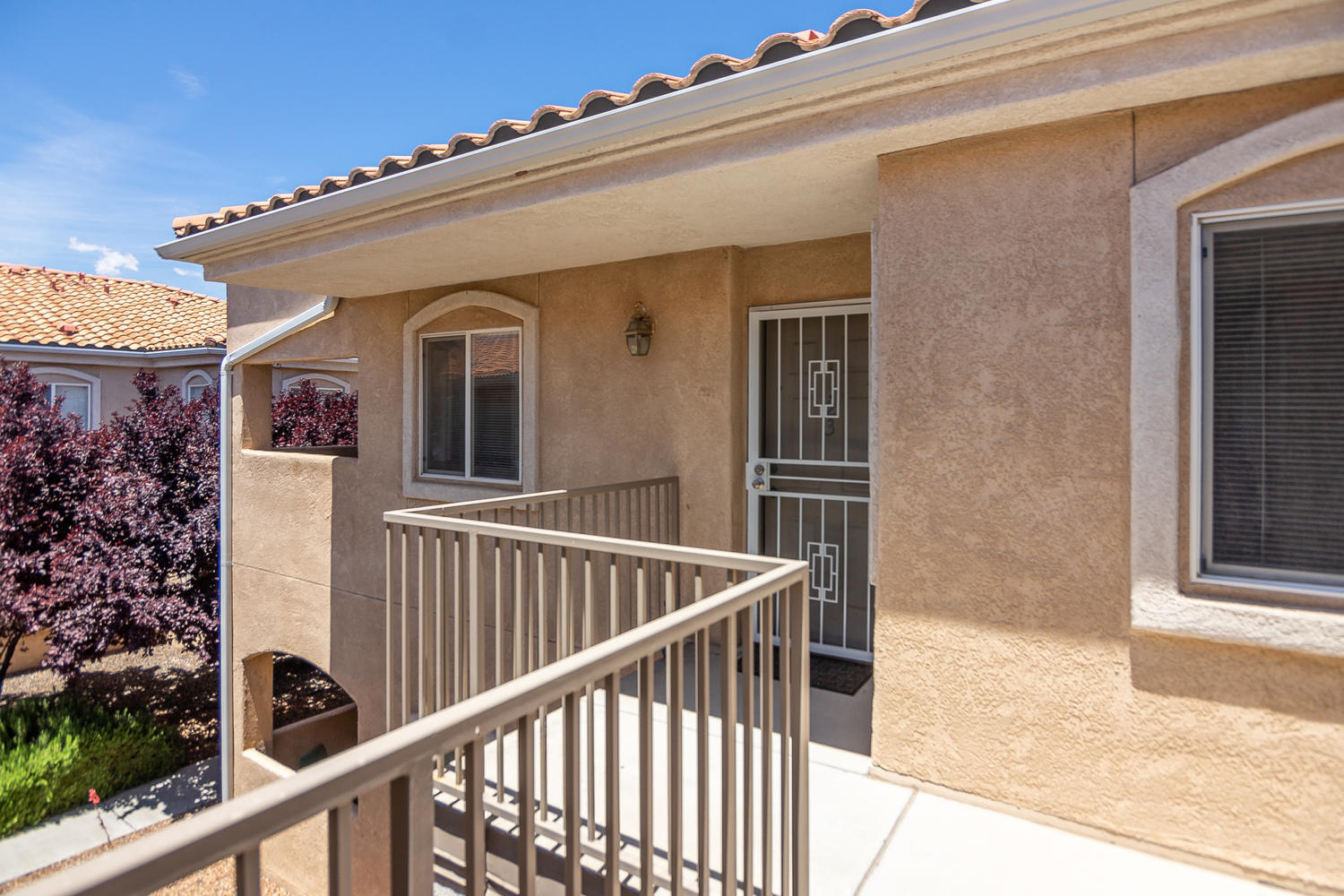 Charming, bright & spacious condo ideally located in the popular Vista Del Norte community in the Rancho Mirage condominiums!  Fall in love w/this 2 bedroom & 2 full bathroom gem; plus a 1 car detached garage! Delightful kitchen w/gas stove, dishwasher, microwave and a breakfast bar which opens to the lovely living area! An atrium door opens to the covered balcony, perfect for relaxing or entertaining during the summer! Wide hallway leads to the bedrooms. Master bedroom offers a walk-in closet & large master bathroom w/tile floor & shower/tub combined! Laundry room w/storage shelves! Enjoy the ease & comfort of this gated community, featuring clubhouse, 2 pools, & exercise room. Centrally located w/easy access to I-25, Paseo Del Norte, restaurants & shopping! New dishwasher... more!