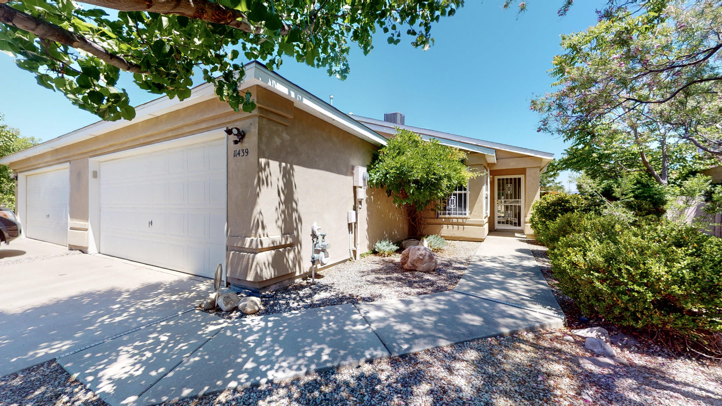 OFFER RECEIVED. MOVE IN READY! This wonderful single story townhome is perfectly located in the desirable Miravista Subdivision. Enjoy the upgraded REFRIGERATED AIR, as well as an upgraded Furnace. New roof was replaced in 2018. Enjoy those lovely summer nights in the largest yard in the subdivision, under your beautiful Pergola. Easy access to I-40, Sandia Labs and Kirkland Air Force Base as well as great shopping and restaurants.