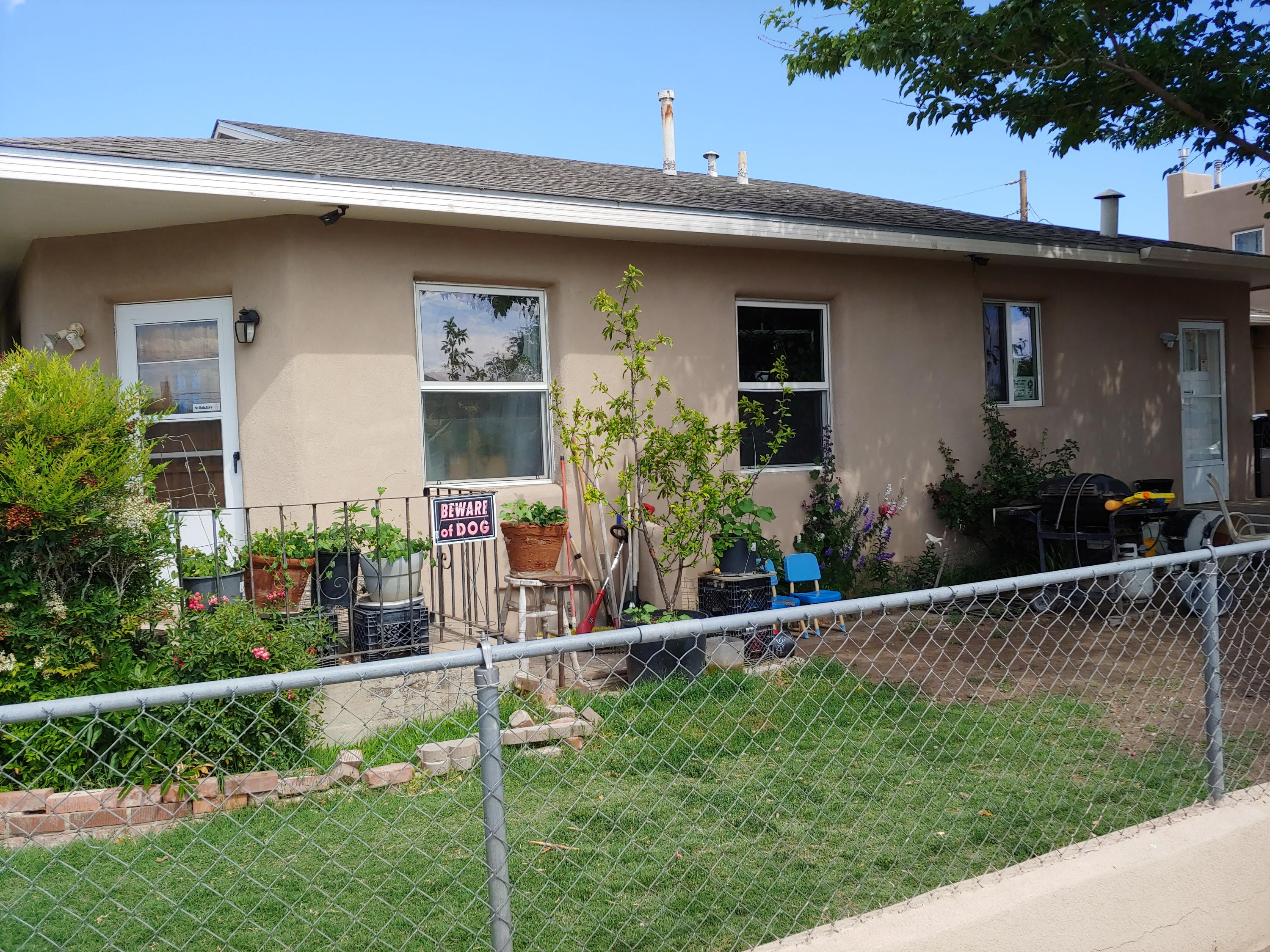 Great opportunity!!    Versatility to live in one unit and rent others out to reduce or eliminate monthly payment! Could work for college student, starting out, or family depending on your needs...has a 3 bedroom two bath main unit , a two story two bedroom one bath unit and one efficiency unit, all in one building. Monthly potential income from each is $1,400, $1,000, $550 for a total monthly of $2,950 gross income. Updates include main kitchen, 30 yr shingle roof, Vinyl windows, deck, stucco, small storage shed and offstreet parking. Super convenient location, freeway access, just minutes from the Duranes Community center...workout room gymnasium, free classes. Very well maintained property. Rezoned to  SU-2 to match use. Closed circuit camera security. Appliances included.
