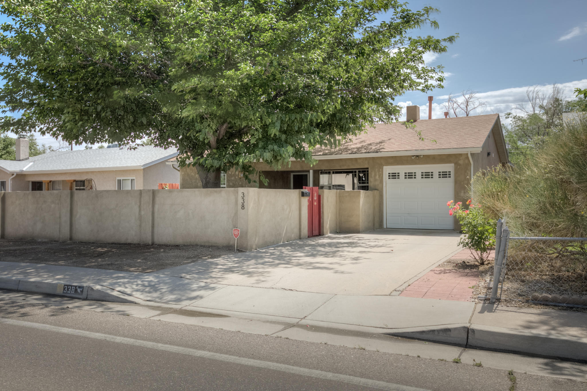 Beautiful, well maintained (new roof!) 4 bedroom home with tasteful updates and endless character just minutes from both Nob Hill and I40. Enjoy the gorgeous new kitchen complete with new stainless appliances and gas burner stove, or the charming wood beam ceilings and stylishly updated bathrooms. A great front courtyard and large backyard (with alley access!) provide private outdoor settings sure to please anyone. See it today!