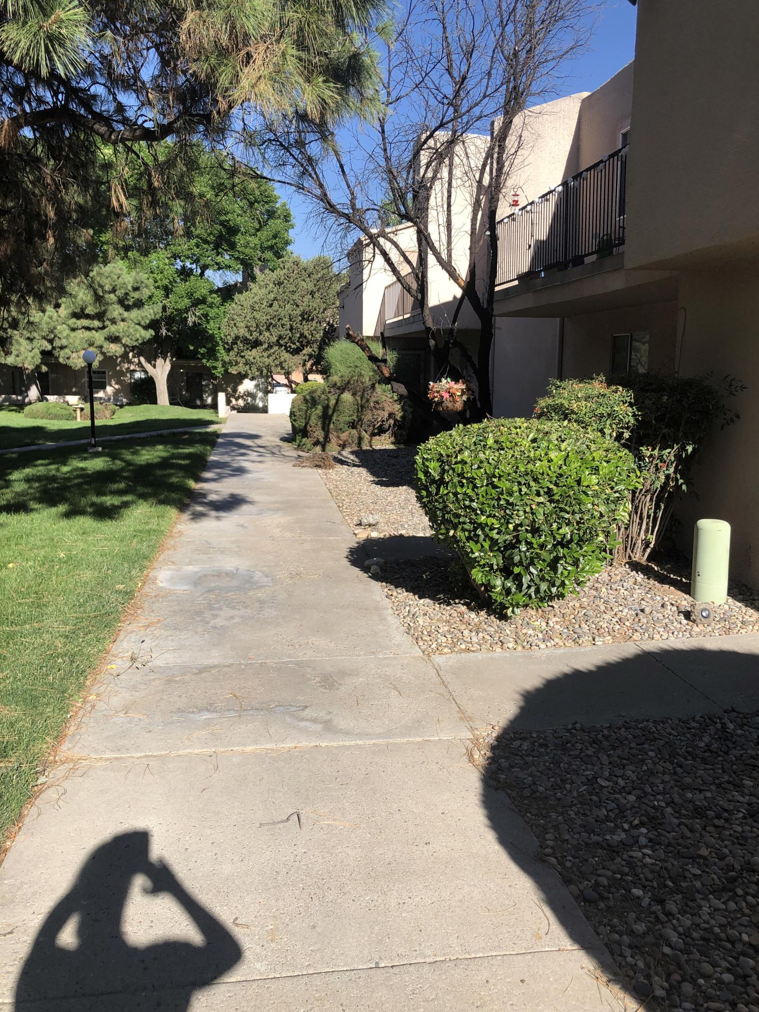 Cute 2 bedroom, 1.5 bath with East and West balconies.  Open kitchen to informal dining room and large Great room.  Nice location with covered carport and gated community pool.  Near schools, shopping and restaurants.