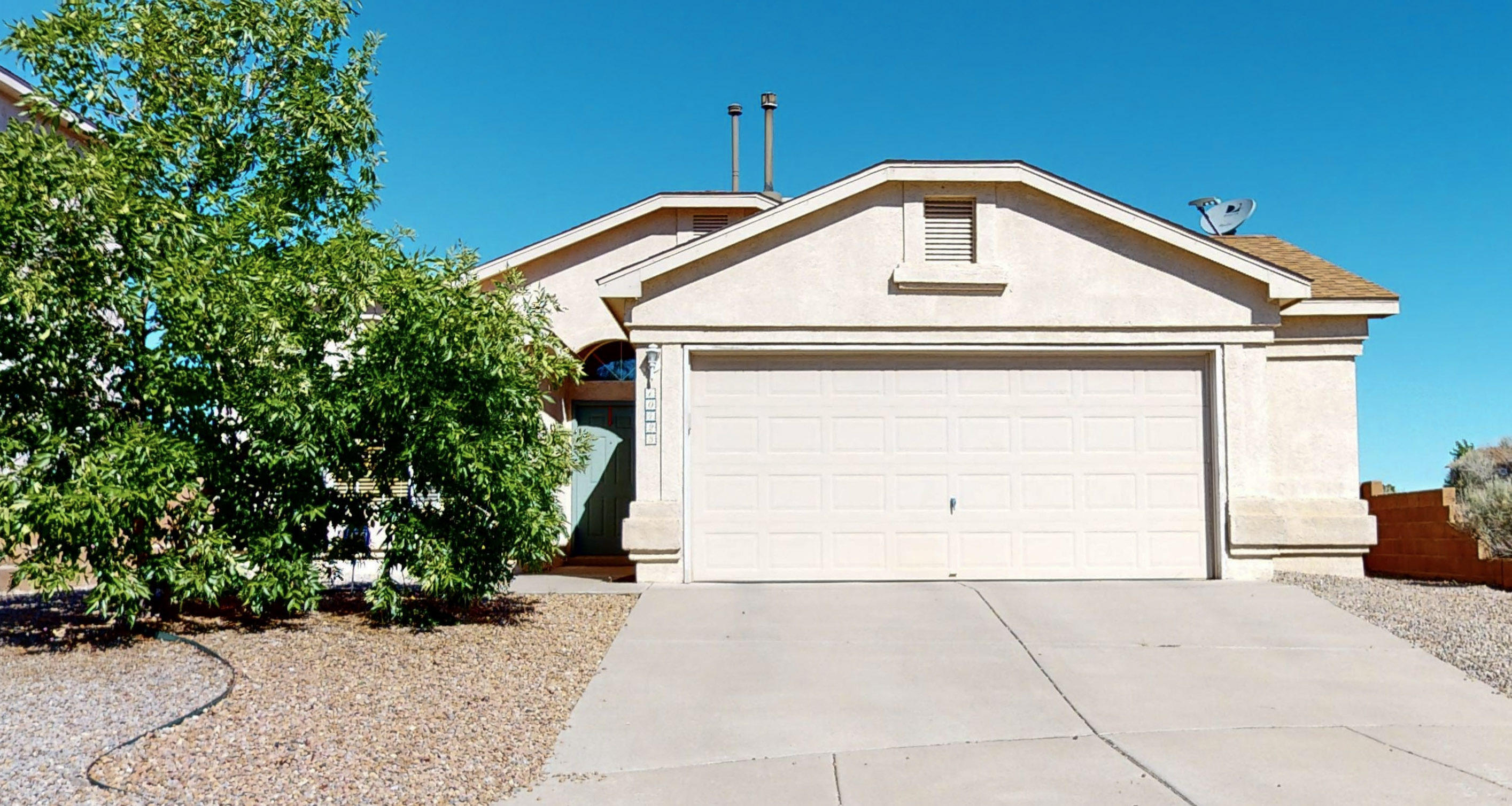 This beautiful and well maintained home is located in the North West Albuquerque close to schools, shopping and much more. This Home features an open floorplan and great layout, New water heater and Cooling system. Backyard is HUGE,  features a pond and Dog run. Schedule a time to see it today!