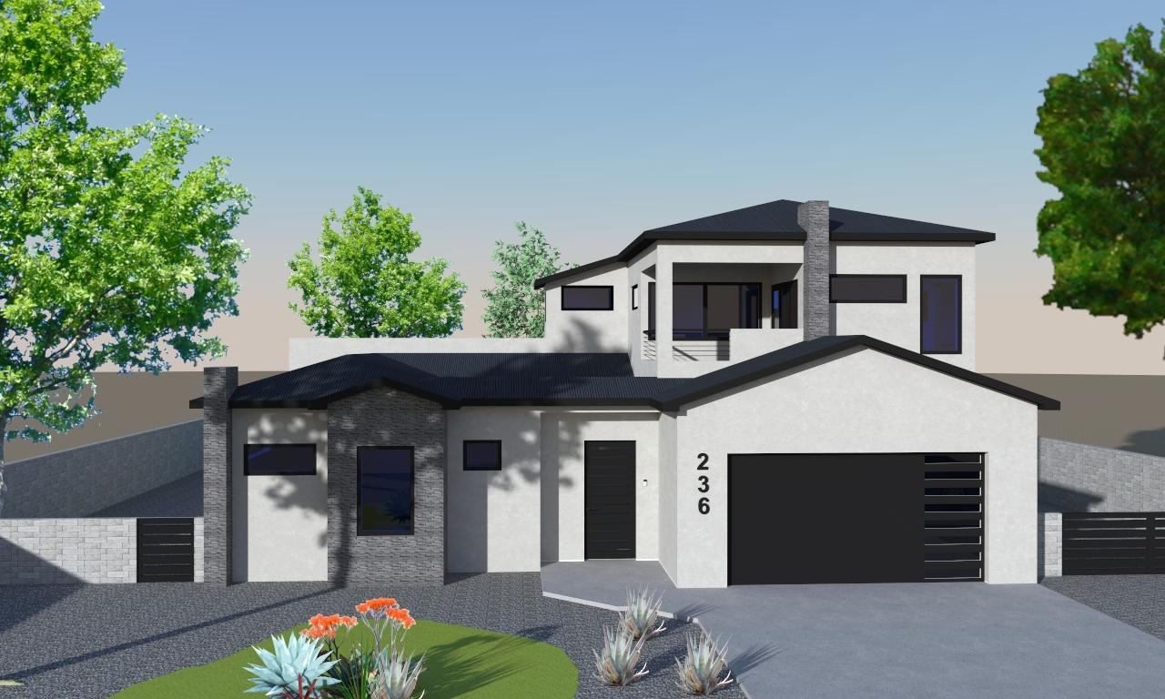 Proposed Construction home in the brand-new gated Valle Encantado Community.  Community features 11 custom home lots with all utilites and building pads in place.  This home is a gorgeous two-story custom-designed home with 4 bedrooms, 3 full baths, and a 2 car garage.  Enter through a private interior courtyard into the open-concept main living area with 12' ceilings.  Extra large kitchen features solid wood cabinets with soft-close drawer/doors and quartz counters.  Contemporary linear fireplace, 9' pocketing door, and modern staircase accent the living room.  Owner's suite and guest bed/office are downstairs.  Two bedrooms upstairs with laundry chute in the loft area.  Views of the Sandia mountains from the upstairs loft and deck.  Watch the video flythrough!