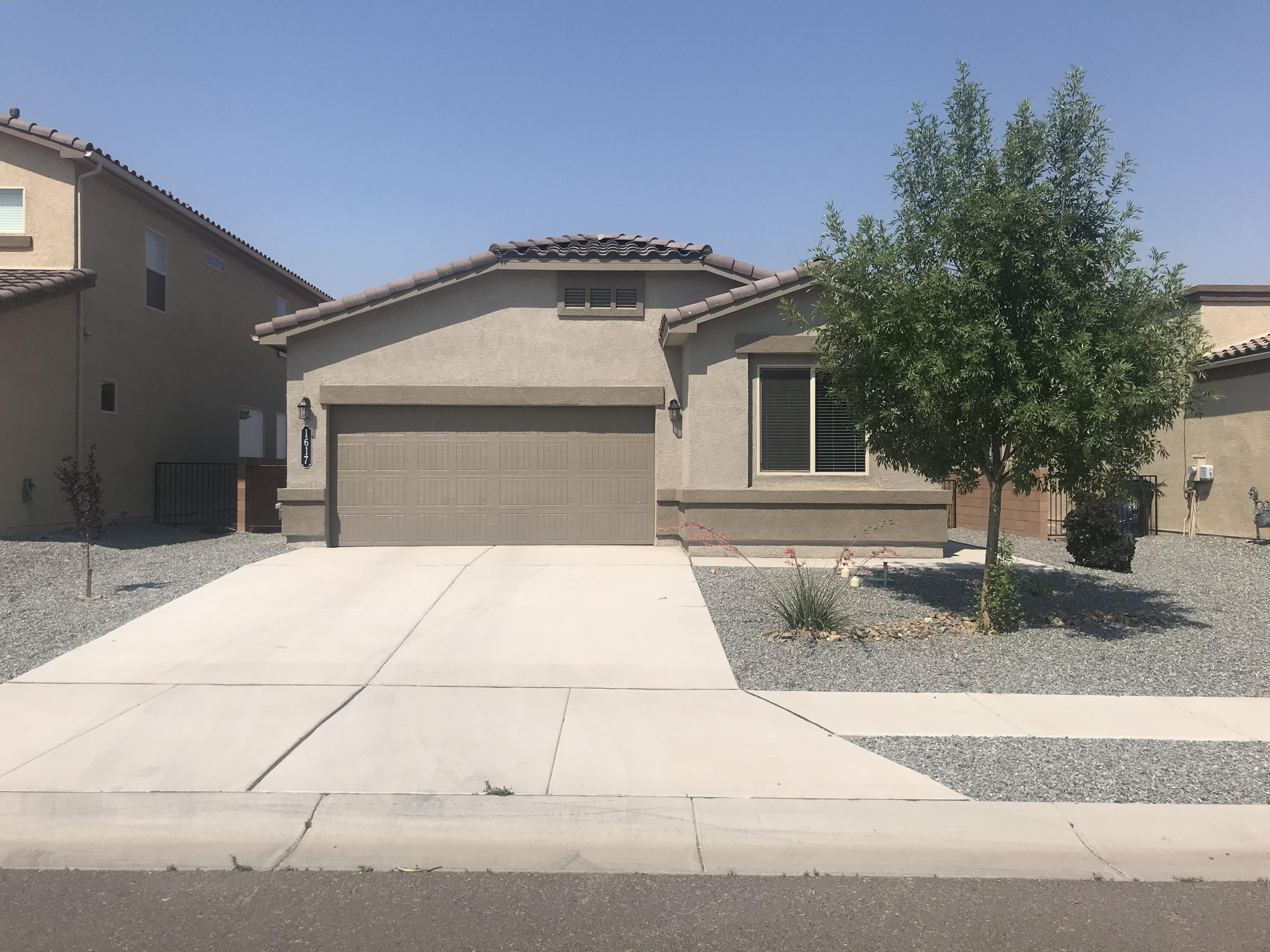 Amazing Views! Home is situated on an upgraded view lot. Home boasts open floor plan, granite countertops, stainless steel appliances, backyard landscaping with concrete patio.  All appliances included, (refrigerator and washer & dryer). Come see today, amazing value compared to new homes in area.