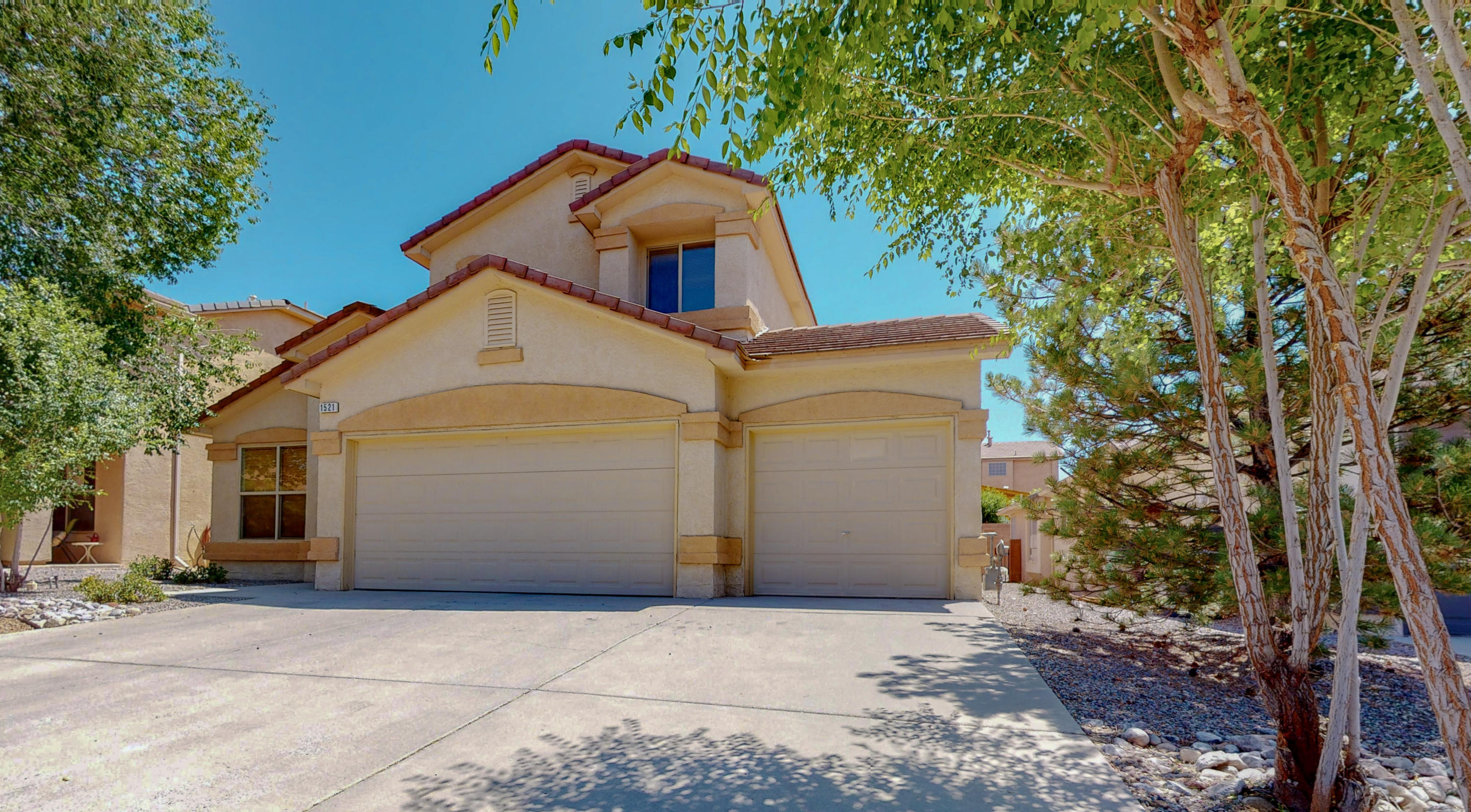 Open House Saturday 6/27 11:30 - 1:30! A fabulous two-story DR Horton Home! Your new home features three bedrooms, three bathrooms, a bonus loft space, soaring ceilings with clerestory windows, and a three-car garage! Updates include New Carpet and Tile throughout the entire home.  Don't wait to see this beautiful home in the heart of Cabezon. Close to shopping, dining, entertainment. Parks, public pools!  Schedule a private showing or take a virtual walkthrough tour! Virtual Tour will be available Wednesday, 6/24!