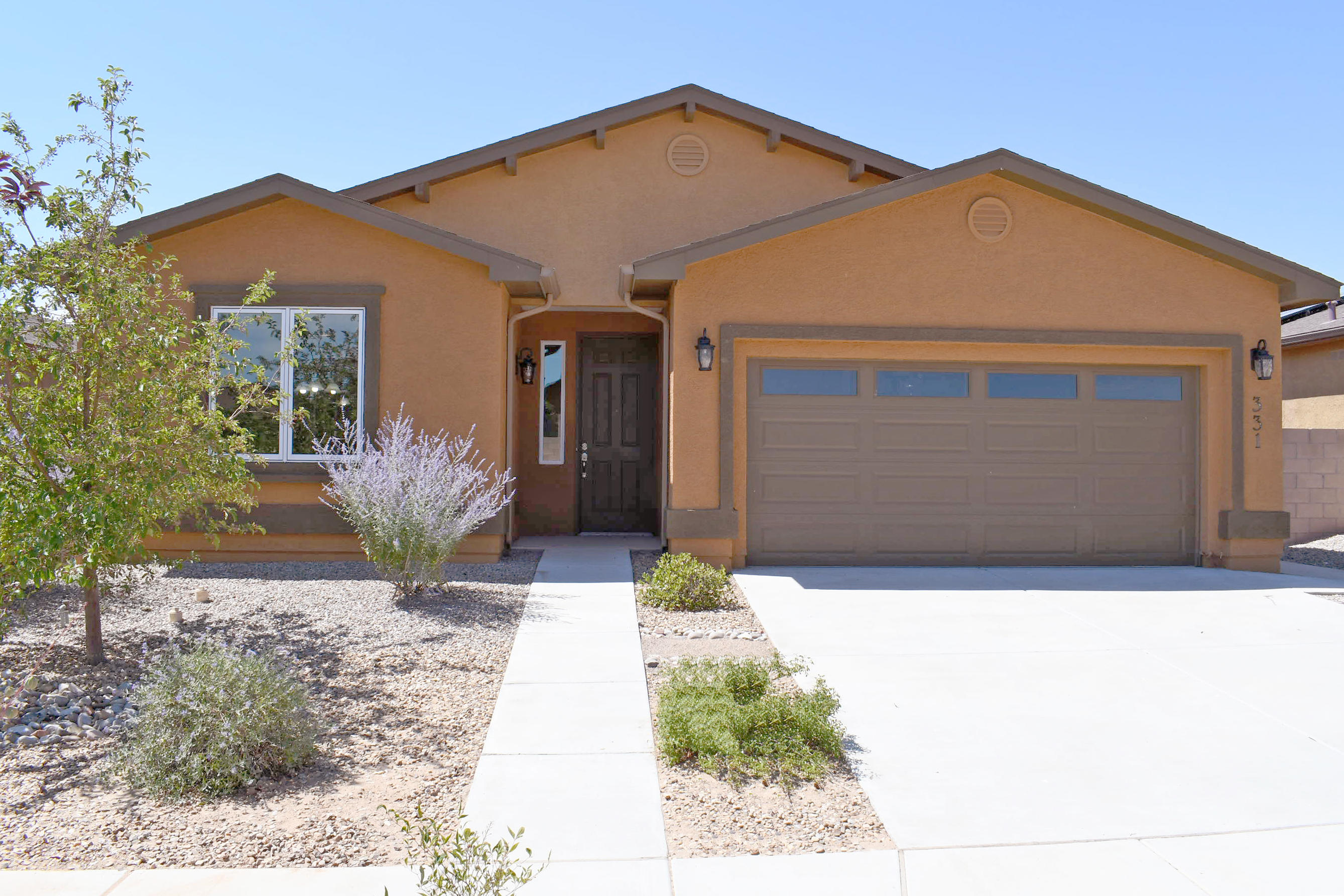 This is a great Jemez (1715 sq. ft.) plan! It's an open concept w/almost no wasted space: spacious master w/window box option gives you a little reading area in the sunny window, guest bedroom & great office too! Entire home has beautiful upgraded wood windows & patio door!! Kitchen w/gorgeous Alder cabinets (in bathrooms also), hi bar, pendant lights, stainless appliances (gas stove) & upgraded granite w/tile backsplash. Fully insulated garage & garage door w/addt'l outlets. And this is an extra deep lot that's already fully landscaped. Such a great price you still have room to make it yours and still save thousands over new construction without the wait!! Don't forget all the great Jubilee amenities: 10,000+ sq. ft. clubhouse, pool, tennis/pickle ball court, & LOTS more!!
