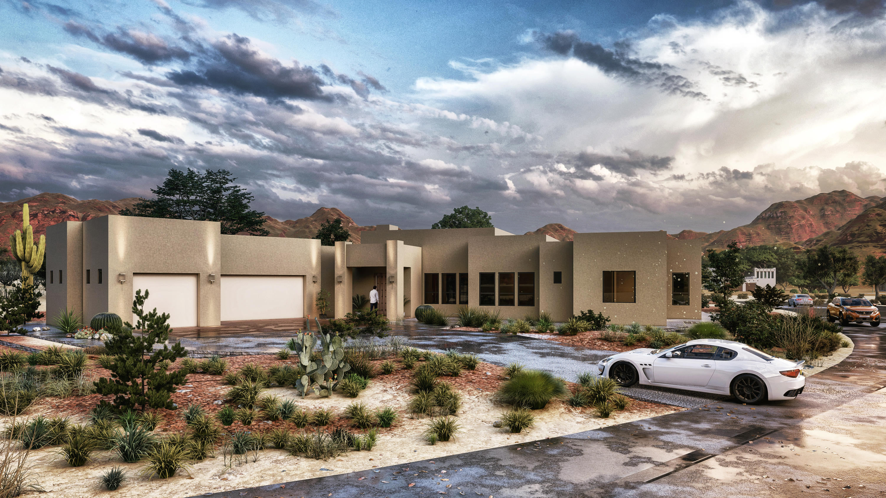 Another exceptional custom home ready to be built by Enchanted Spaces, Placitas' premier custom home builder.  As a 2020 Parade of Home's winner and Buyer's Choice Winner, Enchanted Spaces creates an amazing floor plan with a Scottsdale meets New Mexico design style.  The builder's vision starts with capturing the best that Placitas has to offer - the views!   This lot captures all 3 views-  amazing Sandia Mountain, Jemez Mountains and the city lights!  The floor plan creates minimizes wasted hallway space and features a lounge in addition to the  great room.  You'll also appreciate the oversized outdoor living space to enjoy the amazing landscapes of New Mexico.Home is currently in planning stage and buyer can resign, customize and pick all finishes.