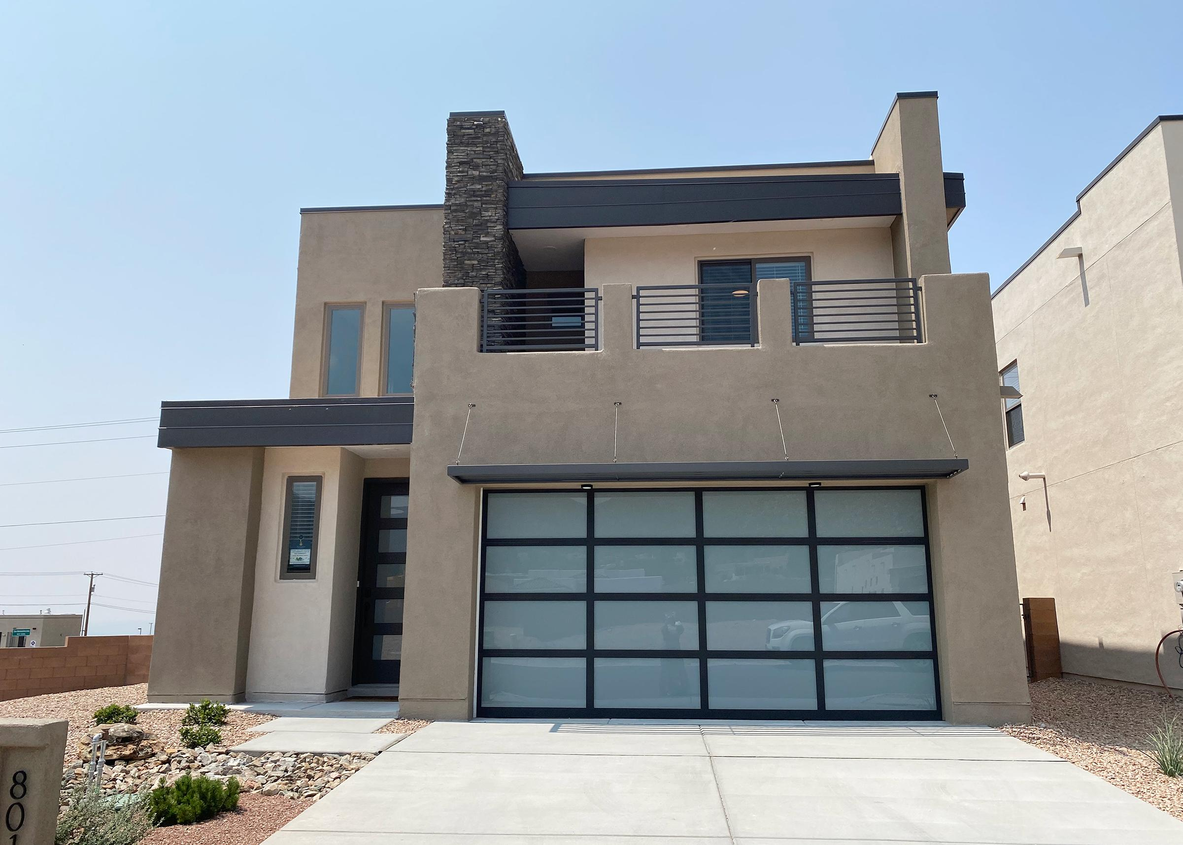 The Cabo by Abrazo Homes is  Gorgeous contemporary including junior suite and deck to capture the Sandias.  Home is almost completed.