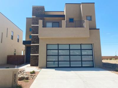 The Loreto by Abrazo Homes 3 bed plus loft with deck option on Owner's suite to capture the Sandia's.   Under construction with Summer  completion estimate.