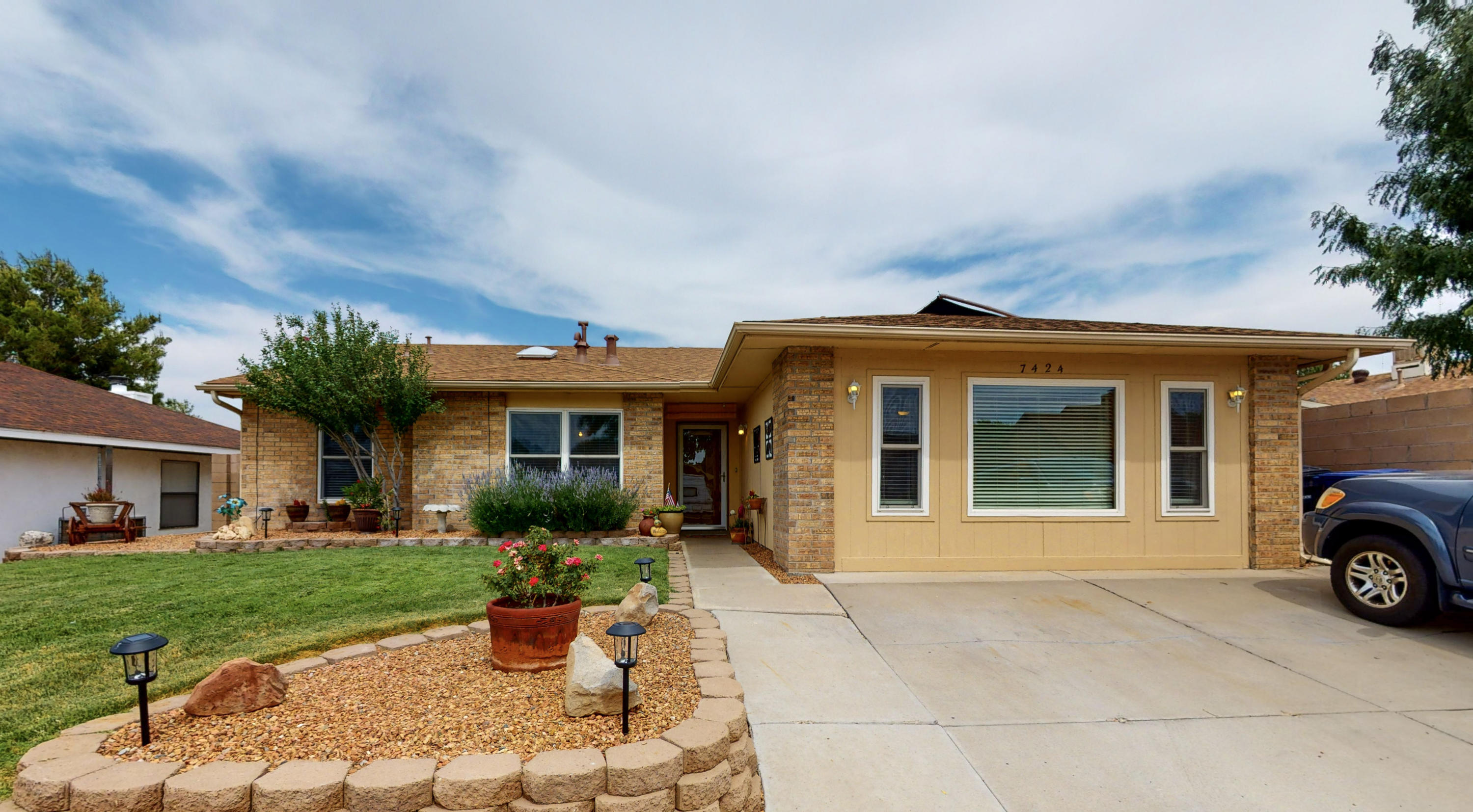 Welcome home in desirable Taylor Ranch! This well cared for one owner home is a must-see, but don't wait this one won't last long! Vaulted ceilings, lots of natural light, and an open concept! Both bathrooms have been modernized with new floors, vanities and shower surrounds. Enjoy cooking your favorite meals in the kitchen that features stainless steel appliances, Cherry Wood cabinets and quartz counter-tops. Cooling off during the rest of the hot summer months in the backyard oasis with the in-ground swimming pool! Sit back, relax under the large covered back patio, and enjoy your private pool! Updates include a Brand New Roof, Fresh Paint, Two New Mini-splits, Schedule a private showing or take a virtual walk-through tour today!