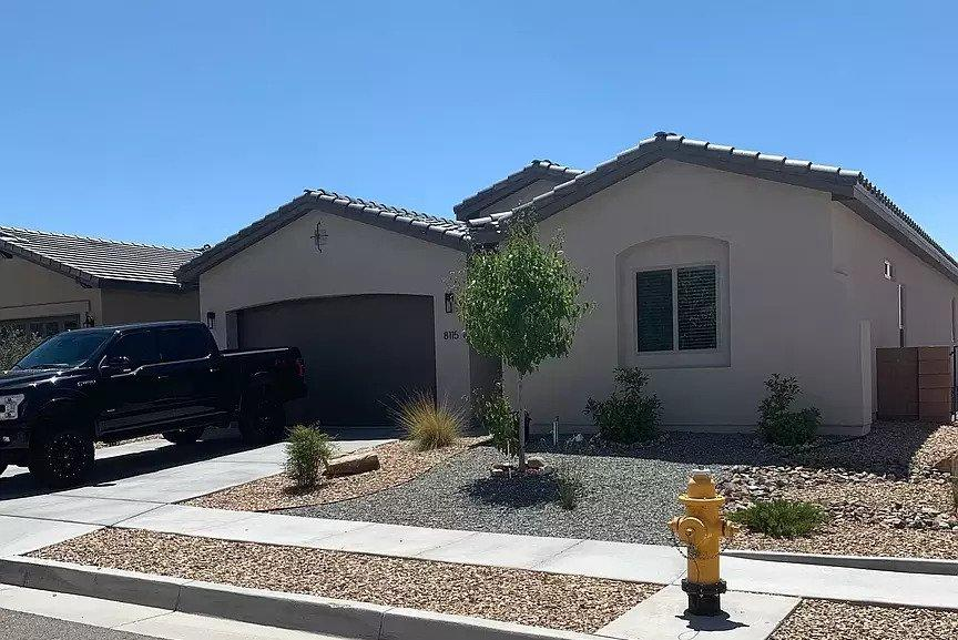 This beautiful 2,188 SF home built in 2018 sits on a large lot with unobstructed mountain and sunset views. Modern upgraded finishes include granite countertops, kitchenaid appliances, oversized 18'' tiles, a tankless water heater, smart home technology, and much more. 3 bedroom, 2 and 1/2 bath home with a flex space added as seen on the Floorplan that works great as an office/bedroom just off the kitchen and living room.