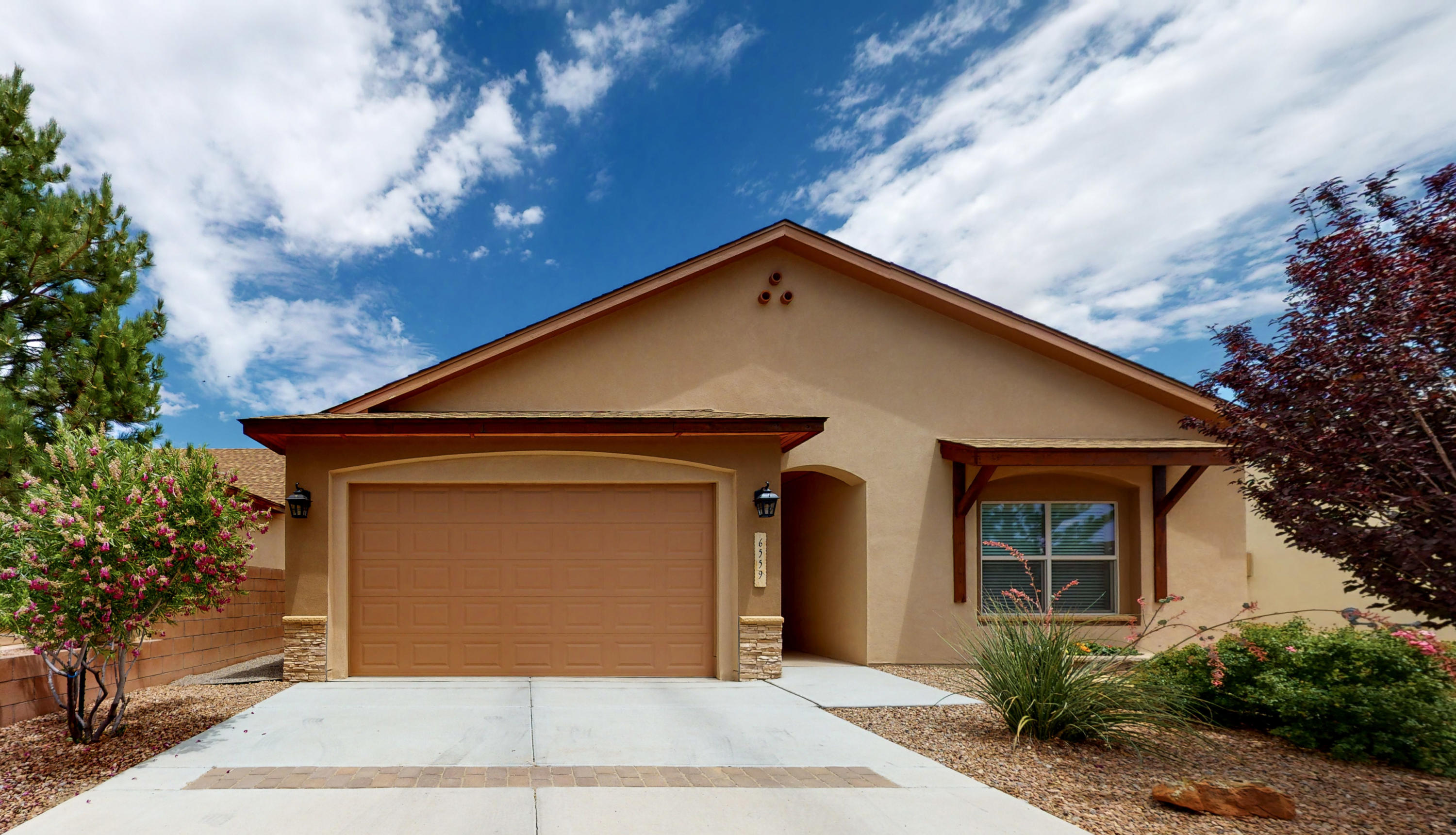 Welcome to this Move-in Ready, 1-Owner, 2015-Built, Single Story Paul Allen Home in Saltillo! Situated on a Quiet Cul-de-sac, 6559 Jazmin Place Northwest offers an Open Floor Plan, *Refrigerated Air*, 3 Bedrooms, and 2 Full Baths! The Kitchen features Granite Counters, Travertine + Glass Backsplash, and Breakfast Bar. Your Master Suite features Custom Tile, Garden Tub, and Walk-in Closet. Fully Landscaped and Walled Backyard with no neighbors behind you. Make an appointment to see this Home today!