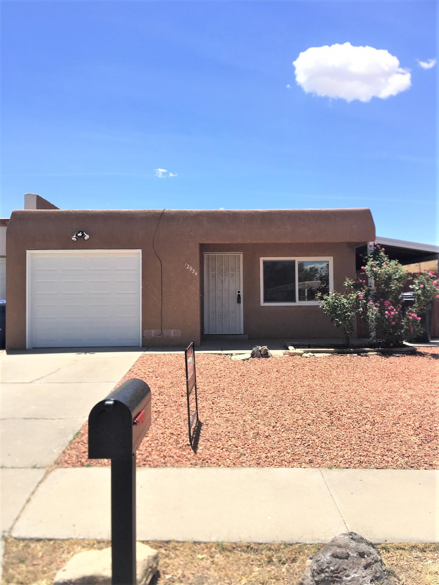 Sold in 1 Day but now Back on the Market with Inspections and Repairs Complete. Sweet Townhome with Pretty, Updated Kitchen with Loads of Cabinets, Pantry, Tile Flooring Thru-Out with Exception to 2 of the 3 Bedrooms which have Carpet. Enjoy the NIce Sized Living area and Dining Rm. The Master Includes a 3/4 Bath. Step Out to a Good Sized Covered Patio for Entertaining. Double Pane Vinyl Windows, Easy Maintenance Yards, Large 1 Car Garage All Freshly Painted. Back Door to Patio will be Painted White.