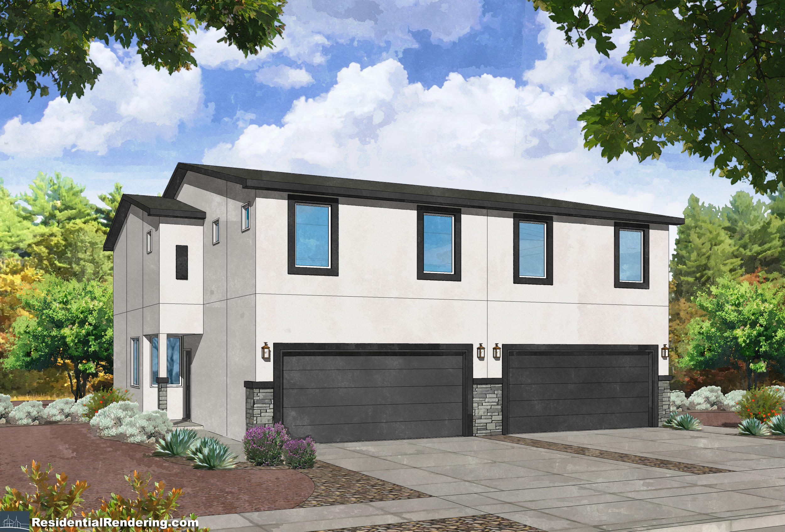 Brand new townhouse at an amazing price! Bright and open kitchen features maple cabinets, GE appliances including 30'' gas range and granite countertops. Large master suite with dual sinks, designer tile shower surrounds, granite vanity sinks and granite backsplash. Energy efficient features include tankless water heater, Carrier 14.0 SEER Refrigerated AC, Low E vinyl windows! Additional upgrades include satin nickel lighting package, Decora electrical switches, raised panel interior doors, Home Team Pest Defense with Taexx System, Front yard landscaping!
