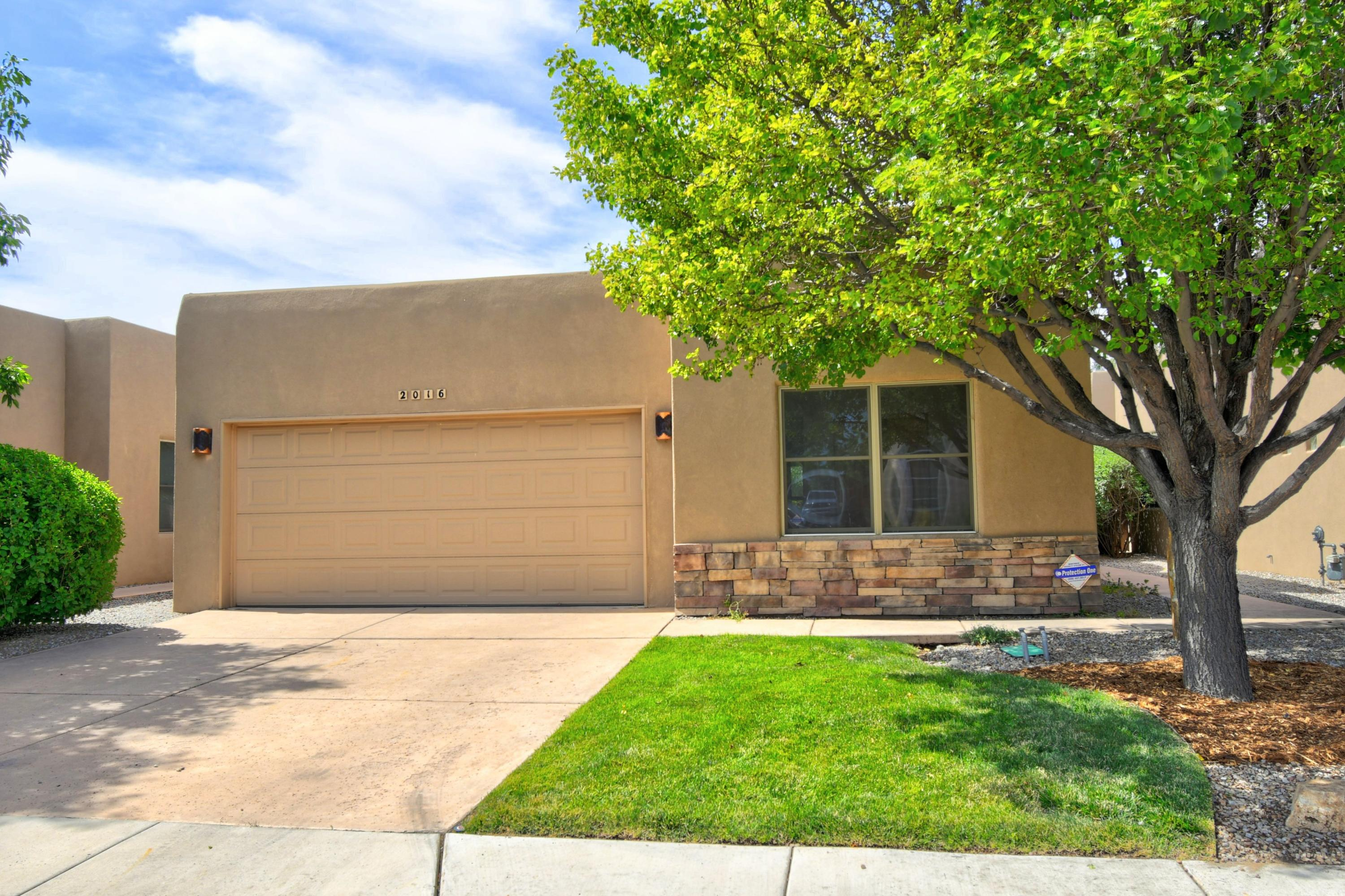 Back on the Market.  Don't miss this lovely one story 3 bedroom or 2 plus office in N. Valley gated sub. again.  Home is move in ready with all tile flooring, wood beams, great room, formal dining area with nicho, kitchen with Bosch stainless gas range, microwave, dishwasher, two pantries, and granite countertops. Two car garage features shelving and cupboards for extra storage, water softener, also home features radiant floor heat and refrigerated AC.  Property backs to walking trail.