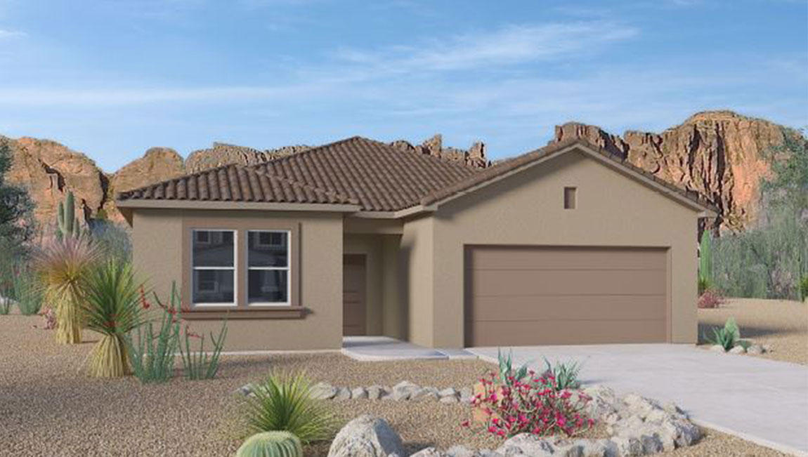 Beautiful NEW HOME in the Volterra IV community in SE ABQ! This never lived-in home is CURRENTLY BEING BUILT. Our incredible 1-story ''EVEREST'' model offers a bright and open kitchen / living area. Besides plenty of standard features like granite kitchen counter-top and tile flooring, GREAT OPEN FLOORPLAN! Make your home your OWN! Primary bedroom is secluded on the main floor.  A gas stub at the outdoor covered patio will ensure a stress-free family bbq... Call today to set up a showing of our beautiful model homes or to learn more about our Volterra IV community!