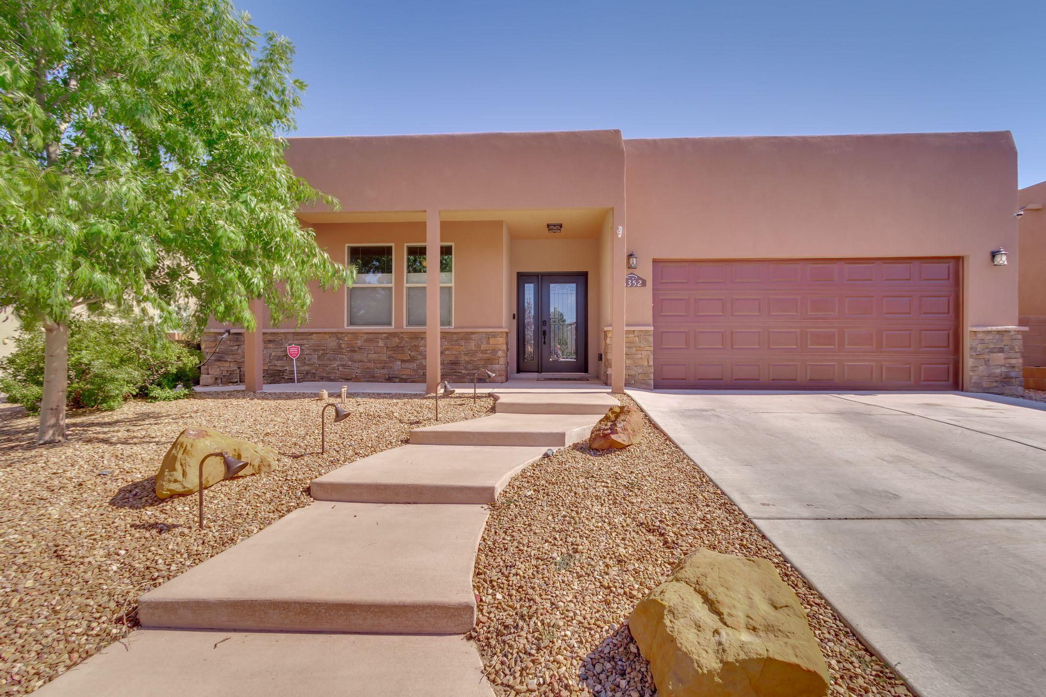 Beautiful MOUNTAIN AND CITY VIEWS!!! Wonderful one-owner Twilight home with open floor plan and refrigerated air.  Enjoy entertaining in the large great room  by the gas log fireplace.  Over sized windows with shutters to enjoy the breathtaking views. Updated back door slider and front door with custom paint through out. Kitchen features SS appliances, granite counters, pantry, island, breakfast bar and large breakfast nook. For extra space, this home includes a separate large dining room. Owner's suite features, en-suite bath w/garden tub and separate shower. Spend your free time outdoors on the covered & uncovered patios and low maintenance fully landscaped front and back yard.  Shed stays! Gorgeous and move in ready! **Don't miss the Photos and Virtual Tour!**