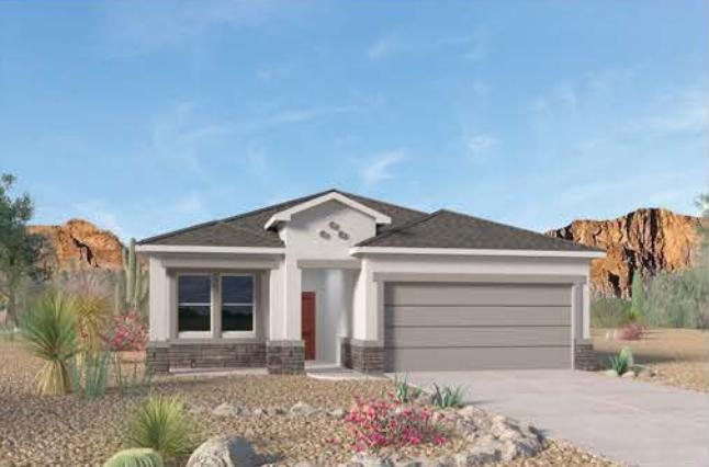 We invite you to the flagship of Rio Rancho, ''Cleveland Heights'' by D.R. Horton. Come take a look at one of our popular single story floorplans, ''The Bryce''. This floorplan presents the Master bedroom in the back of the house to allow for complete privacy. 3 bedrooms, 2 bathrooms and an open concept, This beautiful home is loaded with unbeatable features and near all the amenities you will ever need! HOME UNDER CONSTRUCTION. EST. TIME OF COMPLETION IS END OF SEPTEMBER
