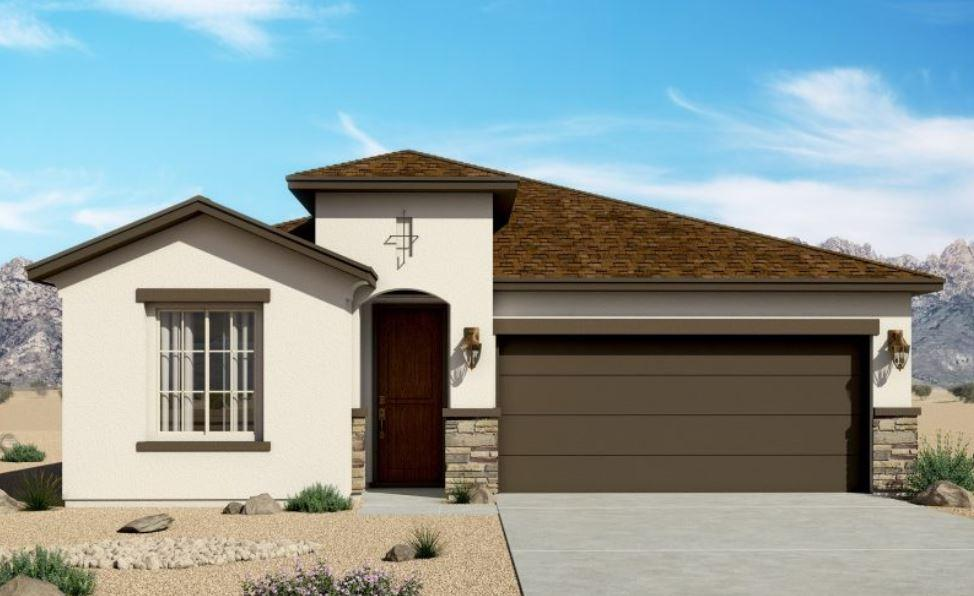 Great investment opportunity.  This is the Hakes Brothers model home at Mountain Hawk Estates.  Looking for affordable luxury? Hakes Brothers standard features include certified silver green build standards, synthetic stucco with sand finish, skip troweled finish on interior walls, tray ceilings in great room, entry, and master, deco arches, two-tone paint, gorgeous tile options by Emser, LED lightings, Moen brand plumbing fixtures, staggered cabinetry with crown molding in kitchen, 8'' under-mount kitchen sink, gourmet kitchen, with granite counters and backsplash, tiled surrounds in baths, mud-pan shower in master, 8' doors, tankless water heater, Lennox heating and cooling, high ceilings throughout, real wood trim, covered patio.  The list goes on and on!