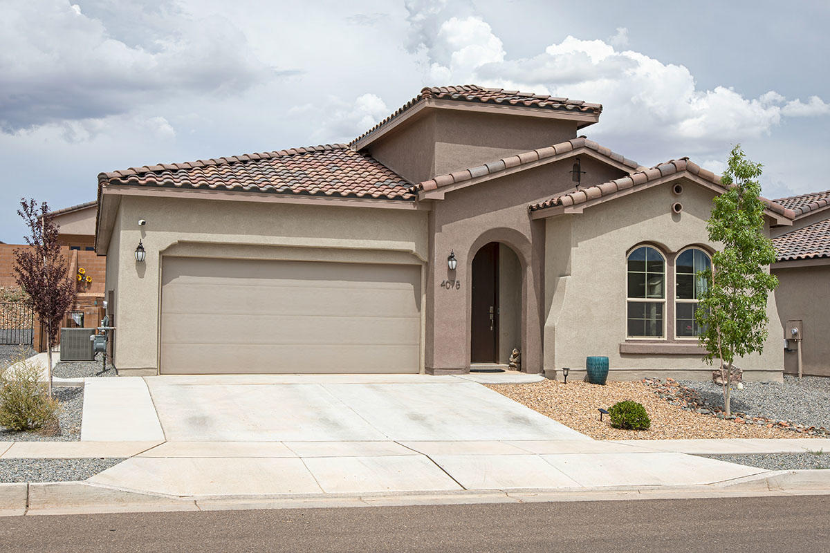 Beautiful Hakes Brothers home, nestled in the picturesque Lomas Encantadas Neighborhood! No need to wait for a brand new build with this gem! Open, flowing floor plan with Granite countertops, ceramic wood like tile floors, and a fully landscaped backyard!  This home features a gourmet kitchen, Stainless steel farm sink, tankless water heater, and refrigerated air! This home is a designers dream come true! This turn key home will not last long!