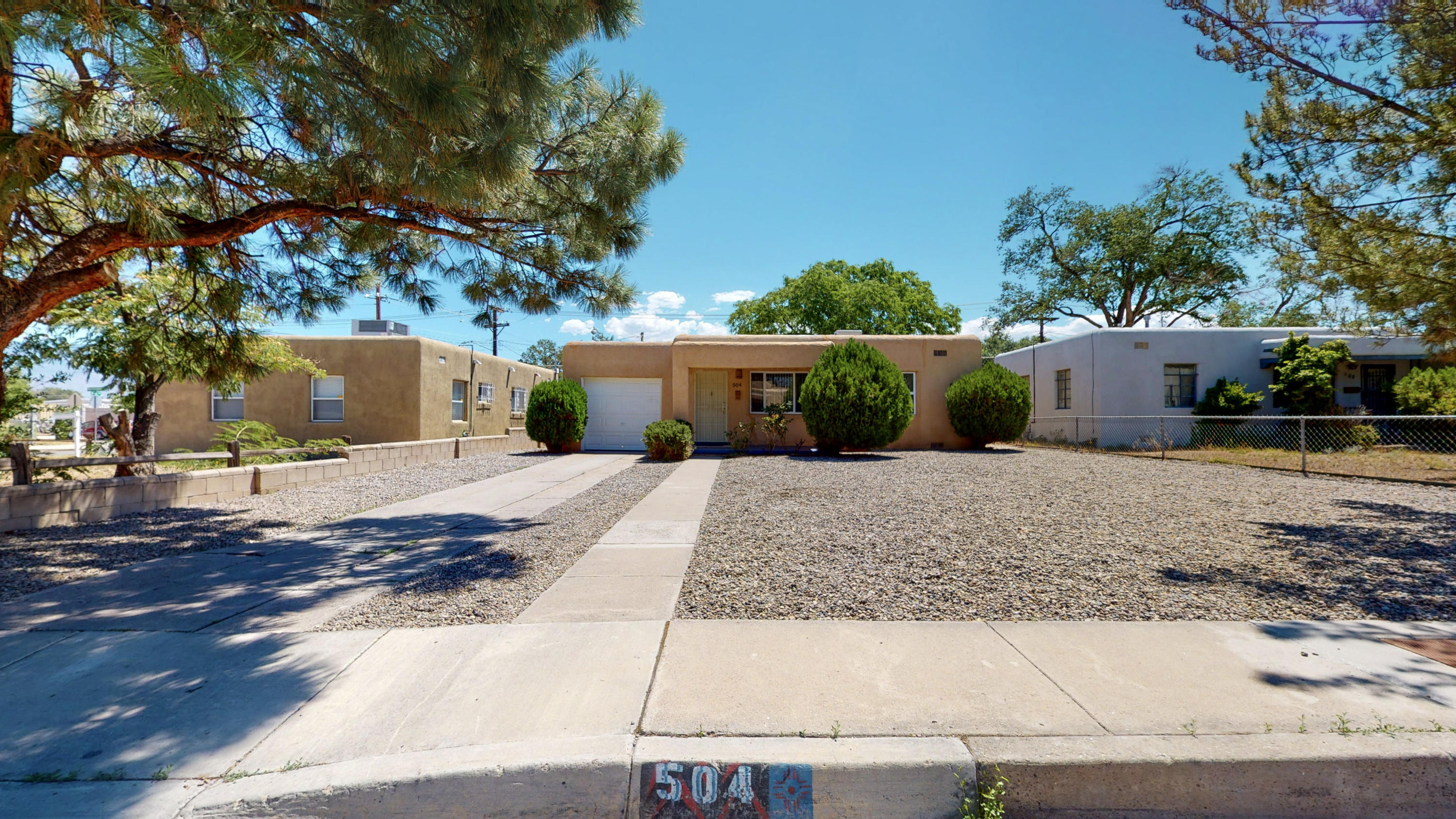 Come see this beautiful cozy home conveniently located in SE Albuquerque close to Nob Hill and UNM. This home features 2 Bedrooms, 1 Bathroom, 1 Car garage, new paint, new carpet and a huge backyard.