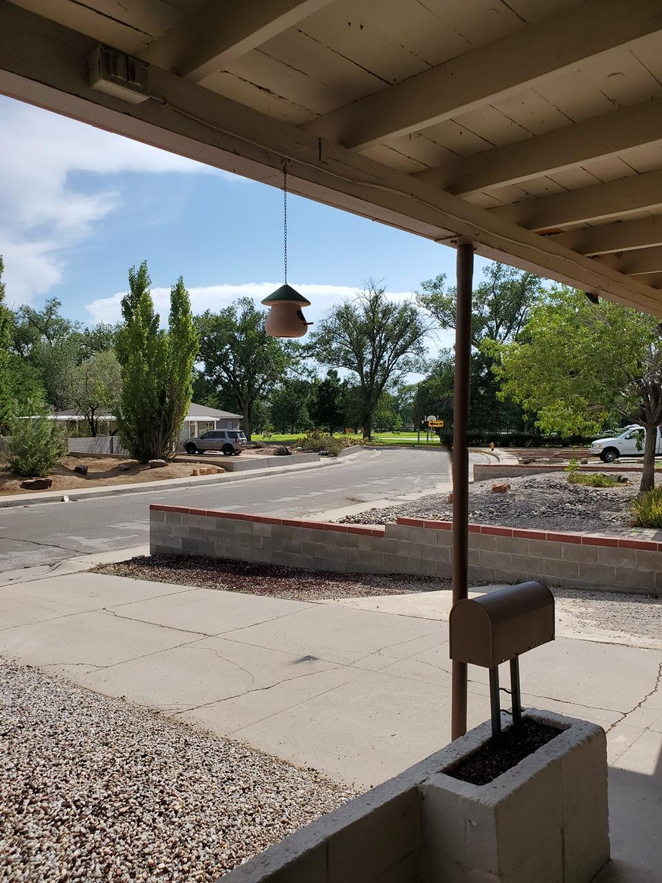 Classic starter home with good bones!  Refrigerated Air, Newer Water Heater/2020, Electrical Updated/2018 Electrical (200amp), Roof Replaced/2016, Fireplace Refurbished/2016, Sewer line replaced 2012.  Seller is offering $3000. flooring allowance with acceptable offer.  Mid Century vibe, steps from Hoffman park.   4 bedrooms/one of which has a separate outside entrance ideal for a home office.   2 separate living areas- 2nd is a large family room with a wood burning fireplace.  Perfect for those cold winter days and nights and large enough for the whole family to enjoy.  Laundry/utility room hosts built in shelving.  A large shaded backyard, featuring a covered patio with a built in storage/garden shed.  A long drive way allowing multiple cars space to park.
