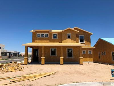 The IPA by Abrazo Homes with Owners bed downstairs 2 beds upstairs with 3 car garage.  This home is under construction.